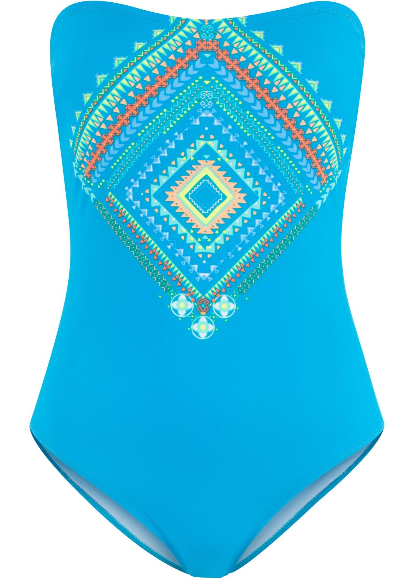 Tvarující jednodílné plavky - Modrá