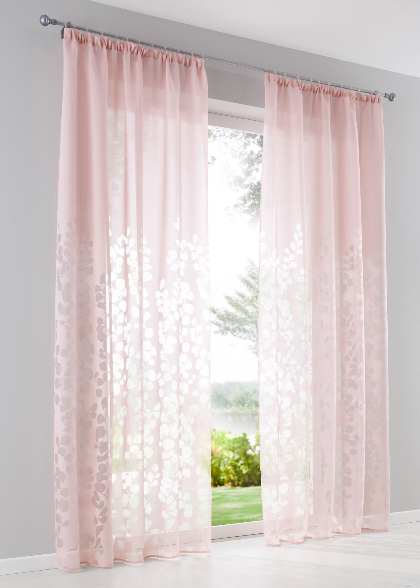 Vypalovaná záclona Jessica (1 ks v balení) - Růžová