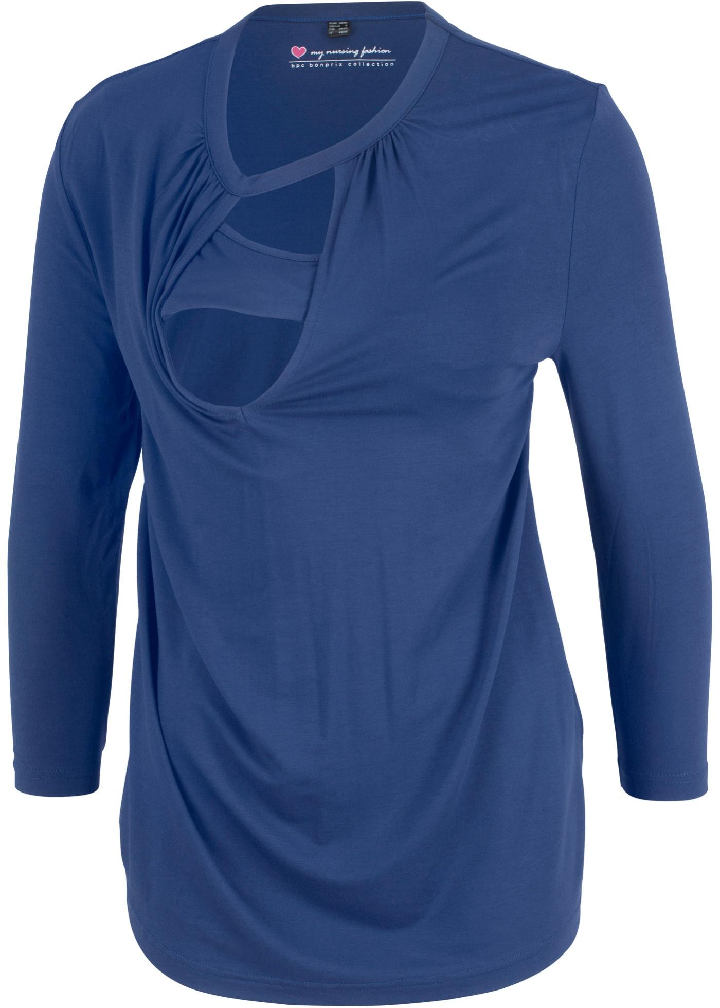 Těhotenské/kojicí tričko - Modrá