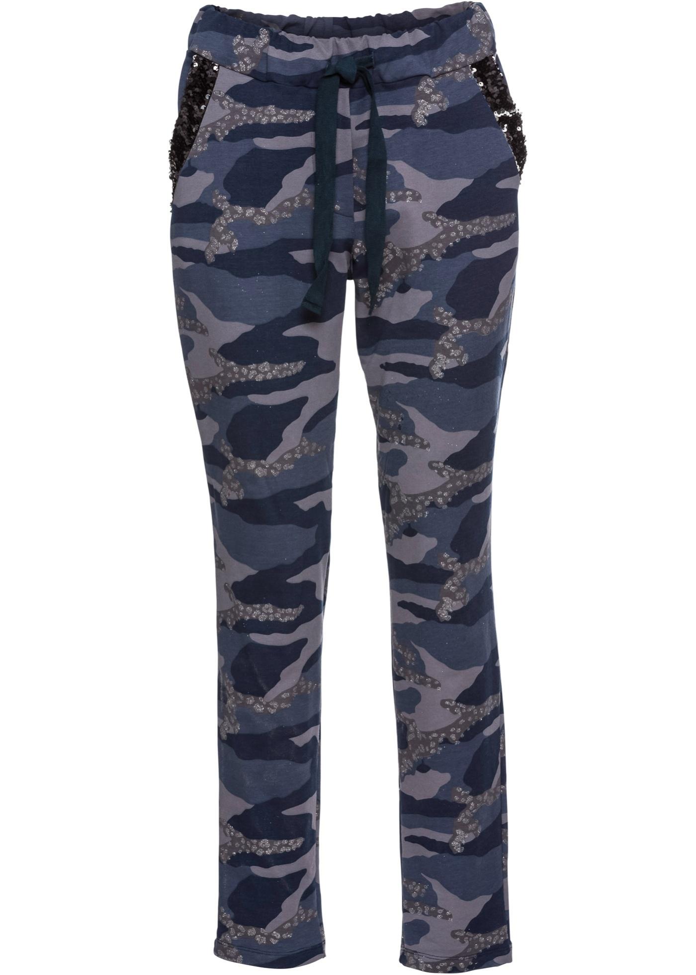 Sportovní lesklé kalhoty - Modrá