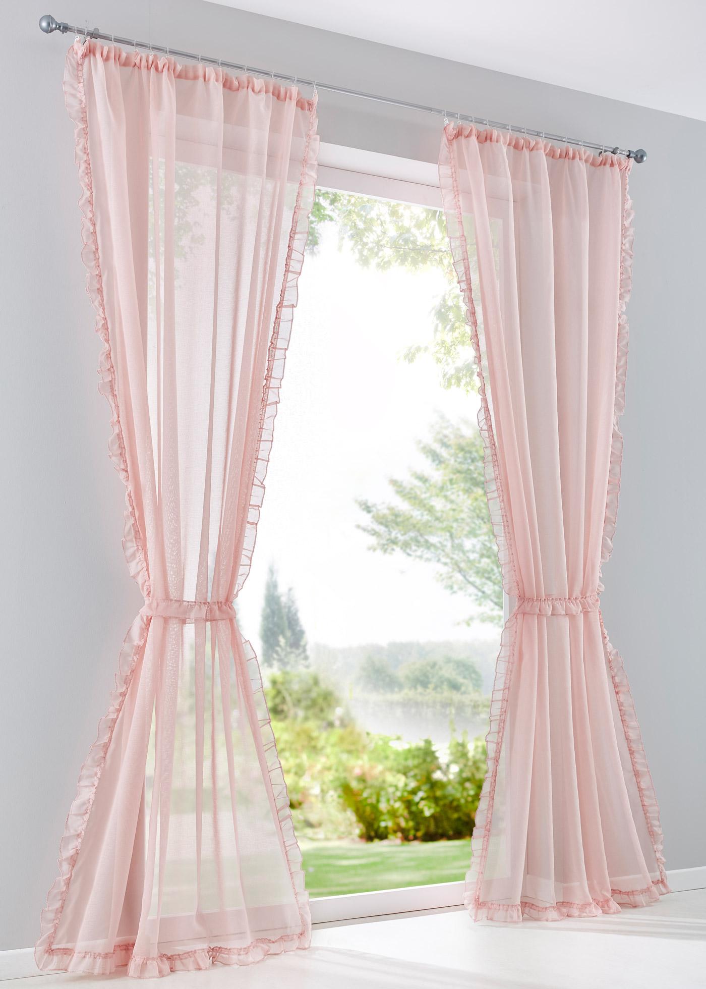 Záclona Kira (1 ks v balení) - Růžová
