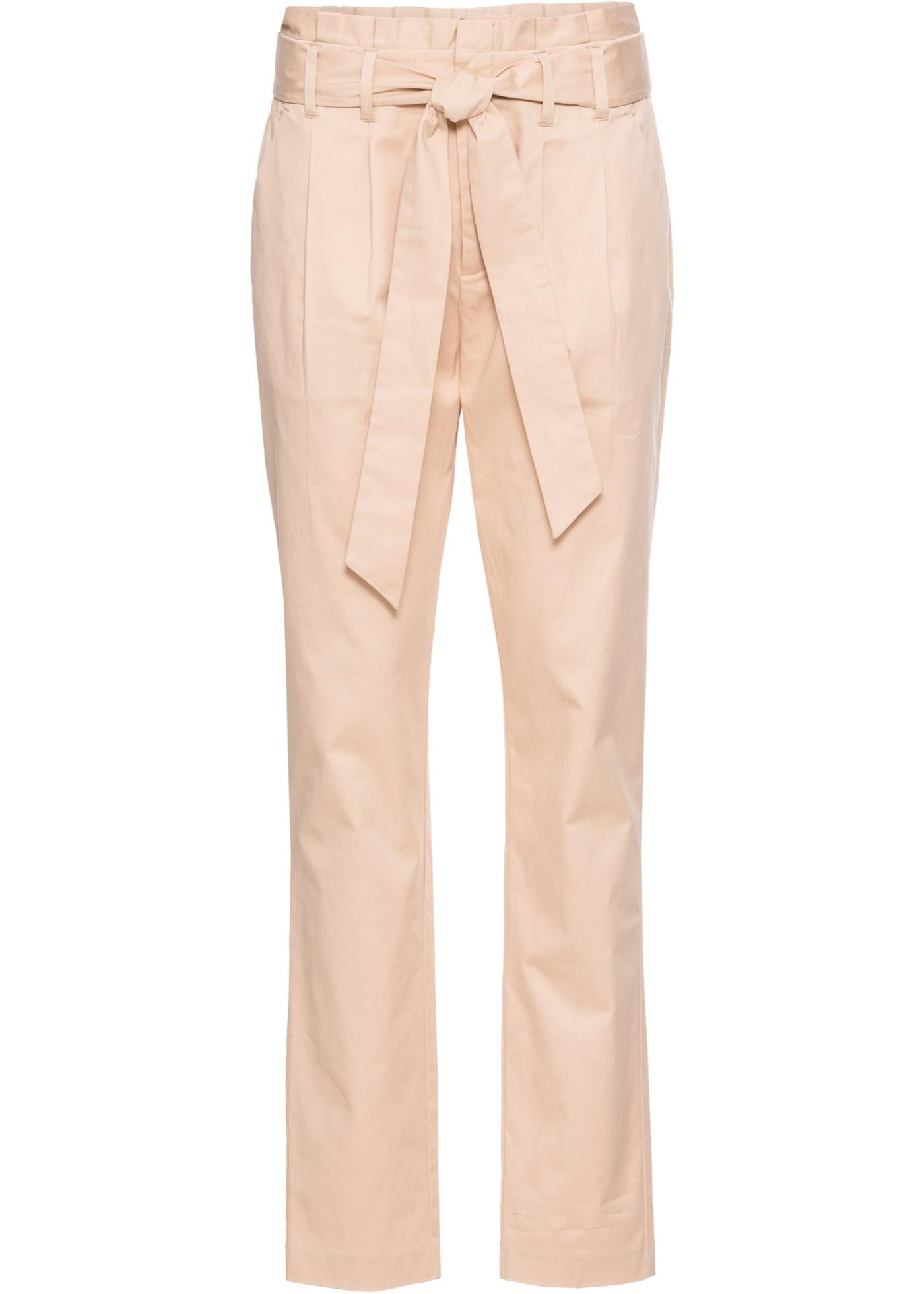 Paperbag kalhoty - Béžová