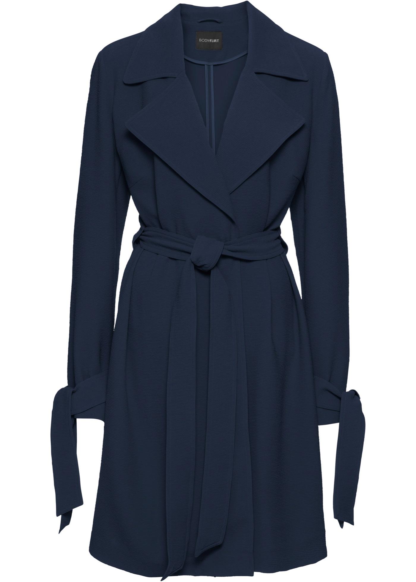 cb0add848e00 Zavinovací kabát bez podšívky - Modrá