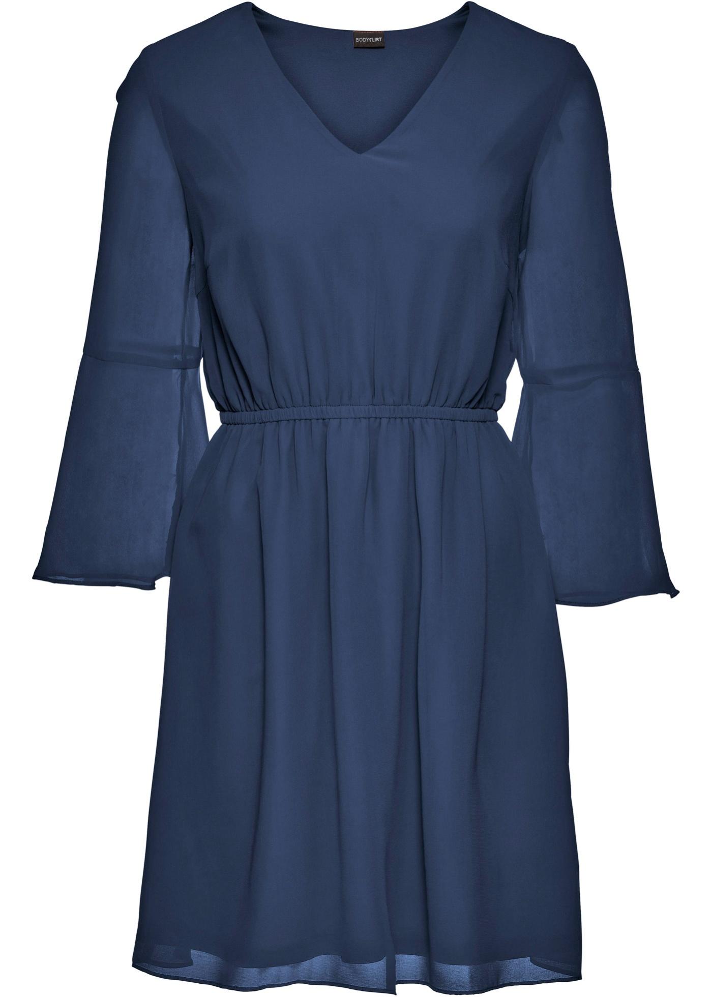 fbd3d78c29d3 Šifónové šaty - Modrá