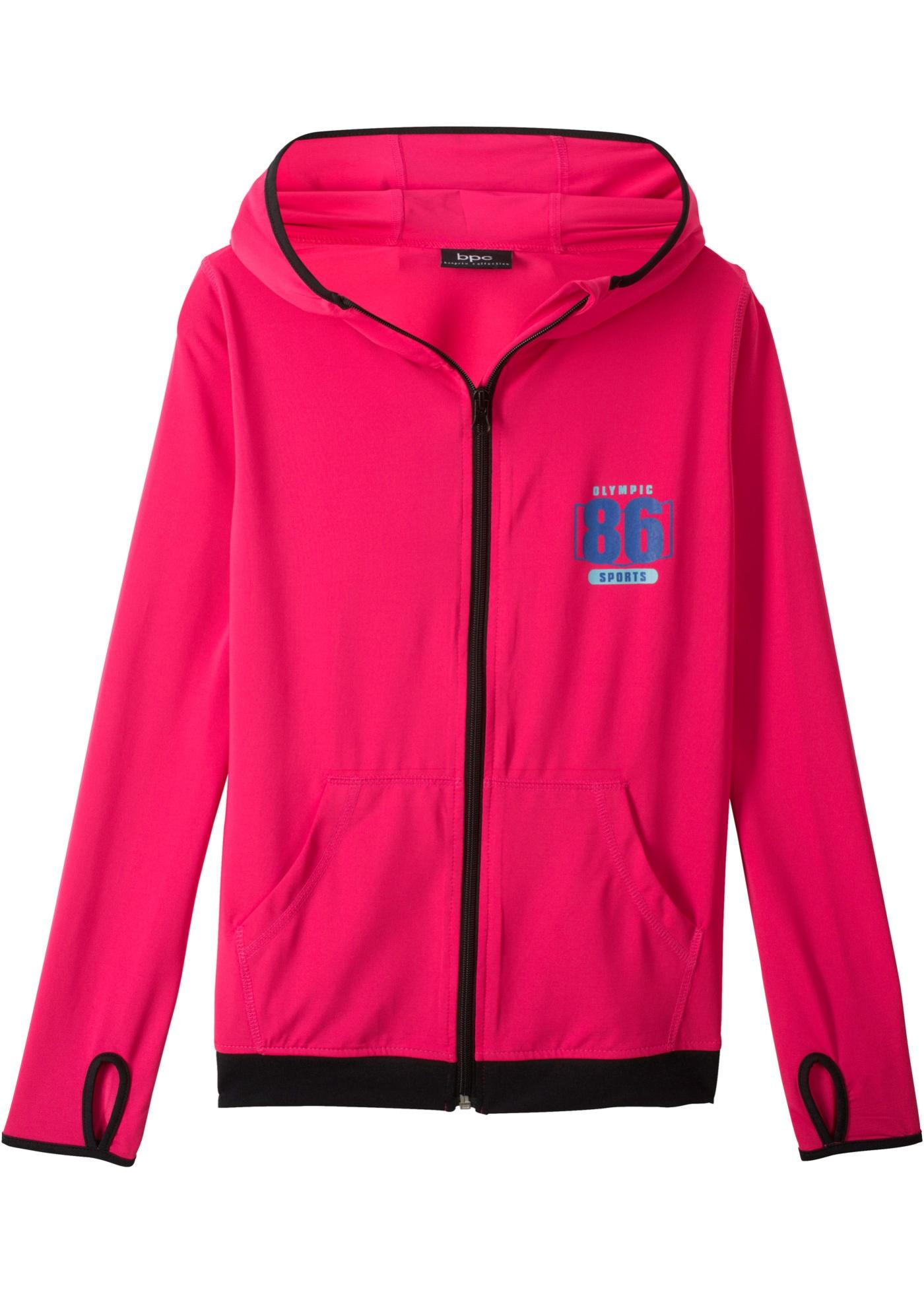 Sportovní bunda s kapucí - Pink