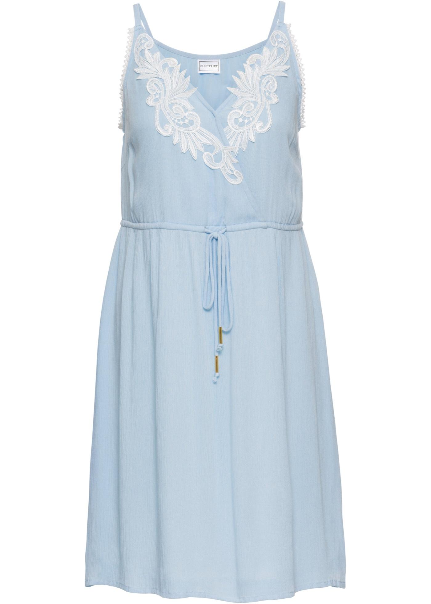 Šaty s krajkou - Fialová