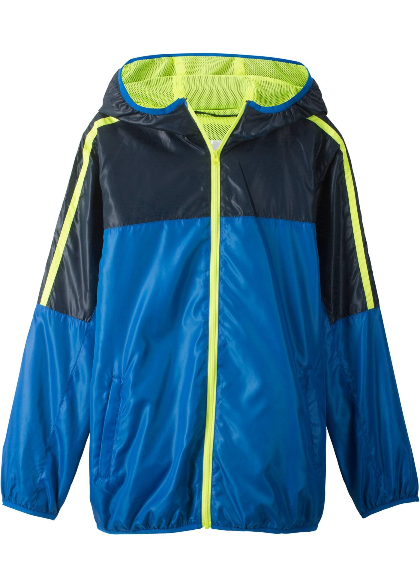 Lehká sportovní bunda s kapucí - Modrá