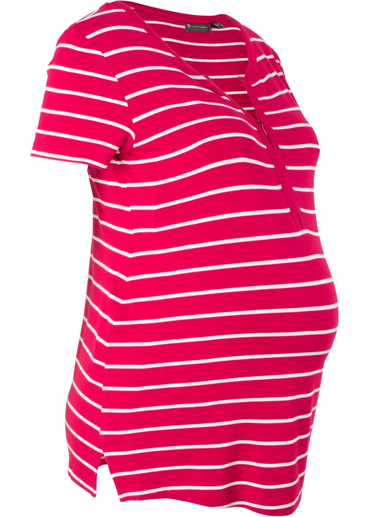 Těhotenské/kojicí triko - Červená