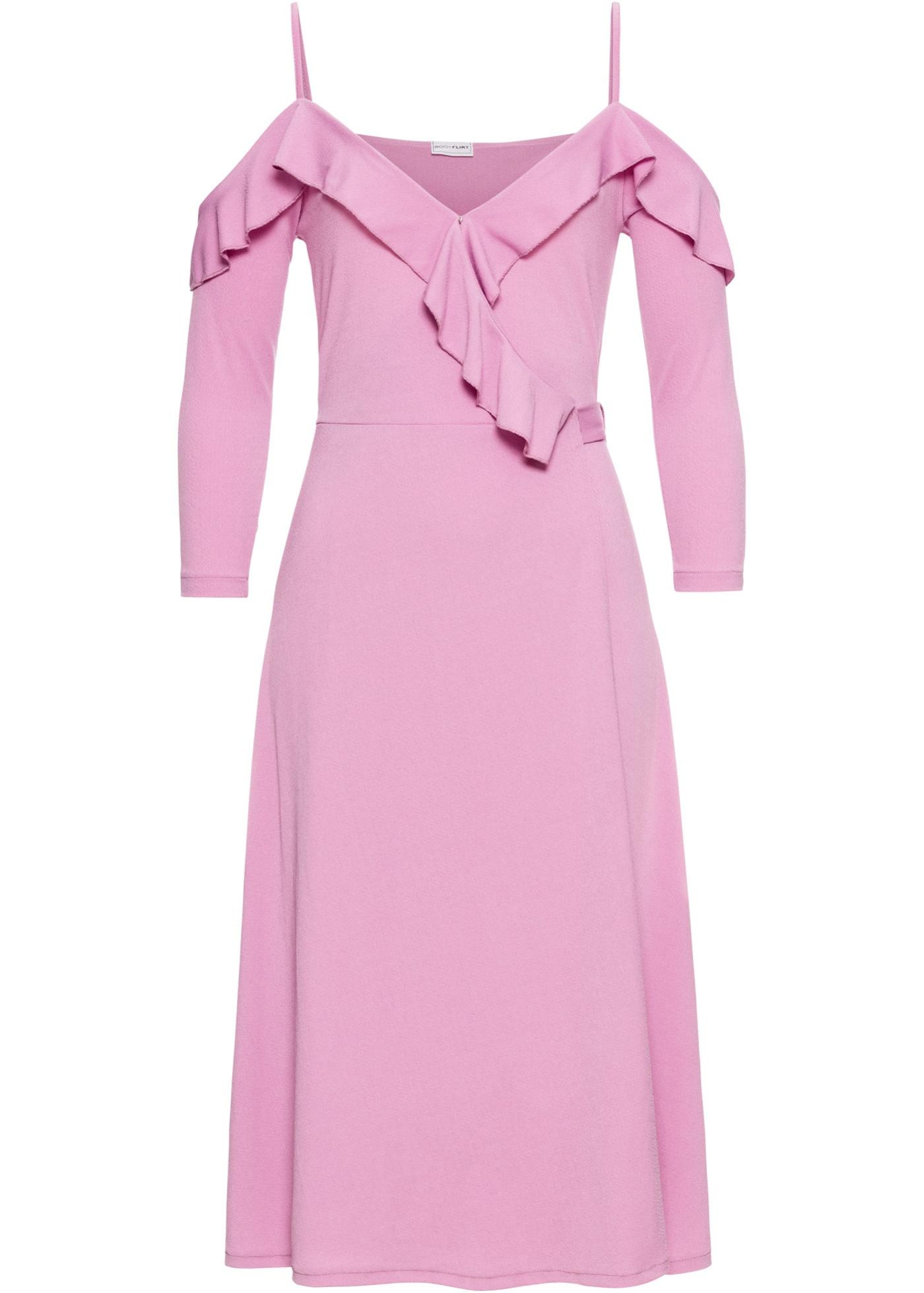 c9f71d9a283c Zavinovací šaty s volánky - Růžová