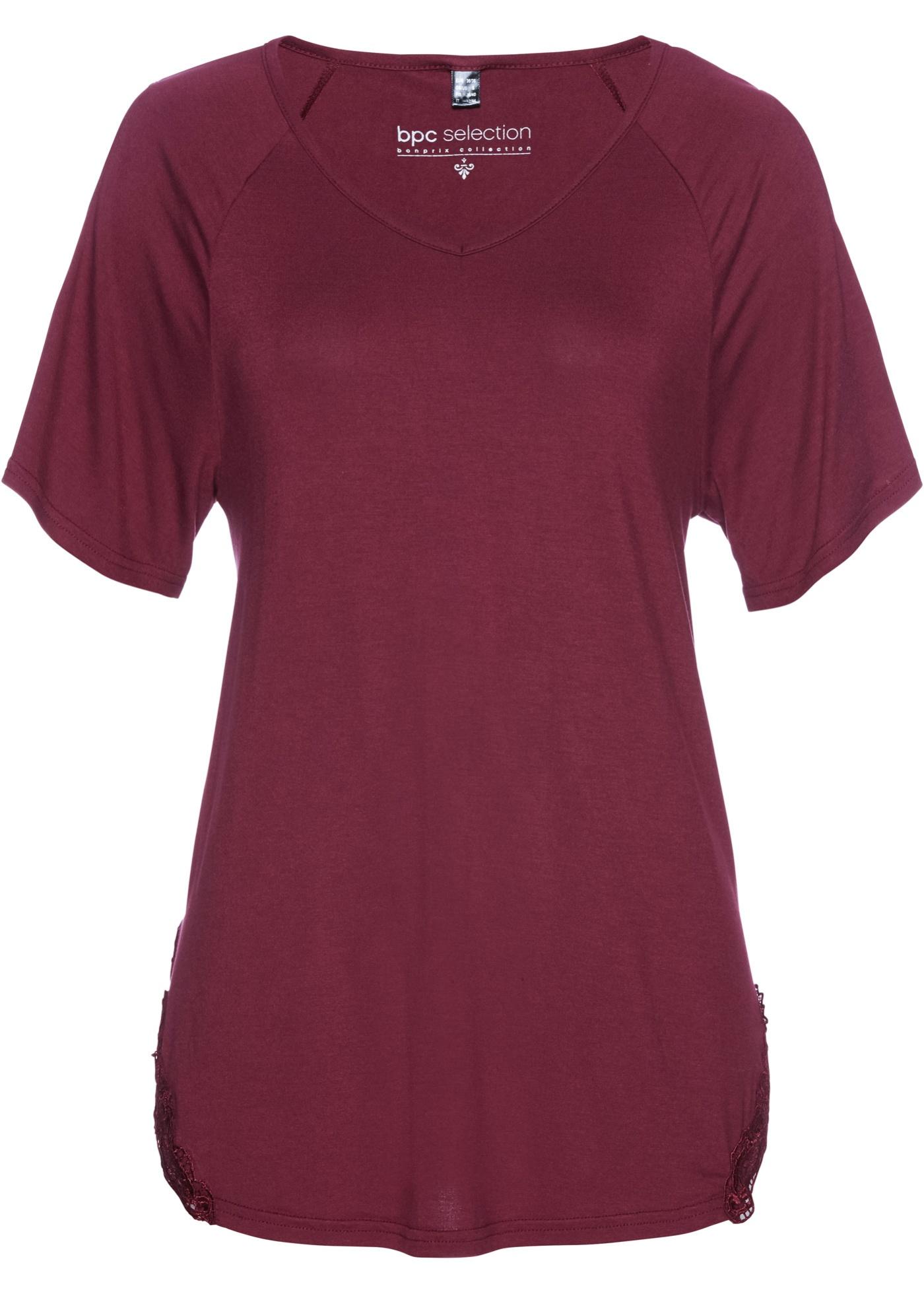 Tričko s průstřihy - Fialová ae49528bdf