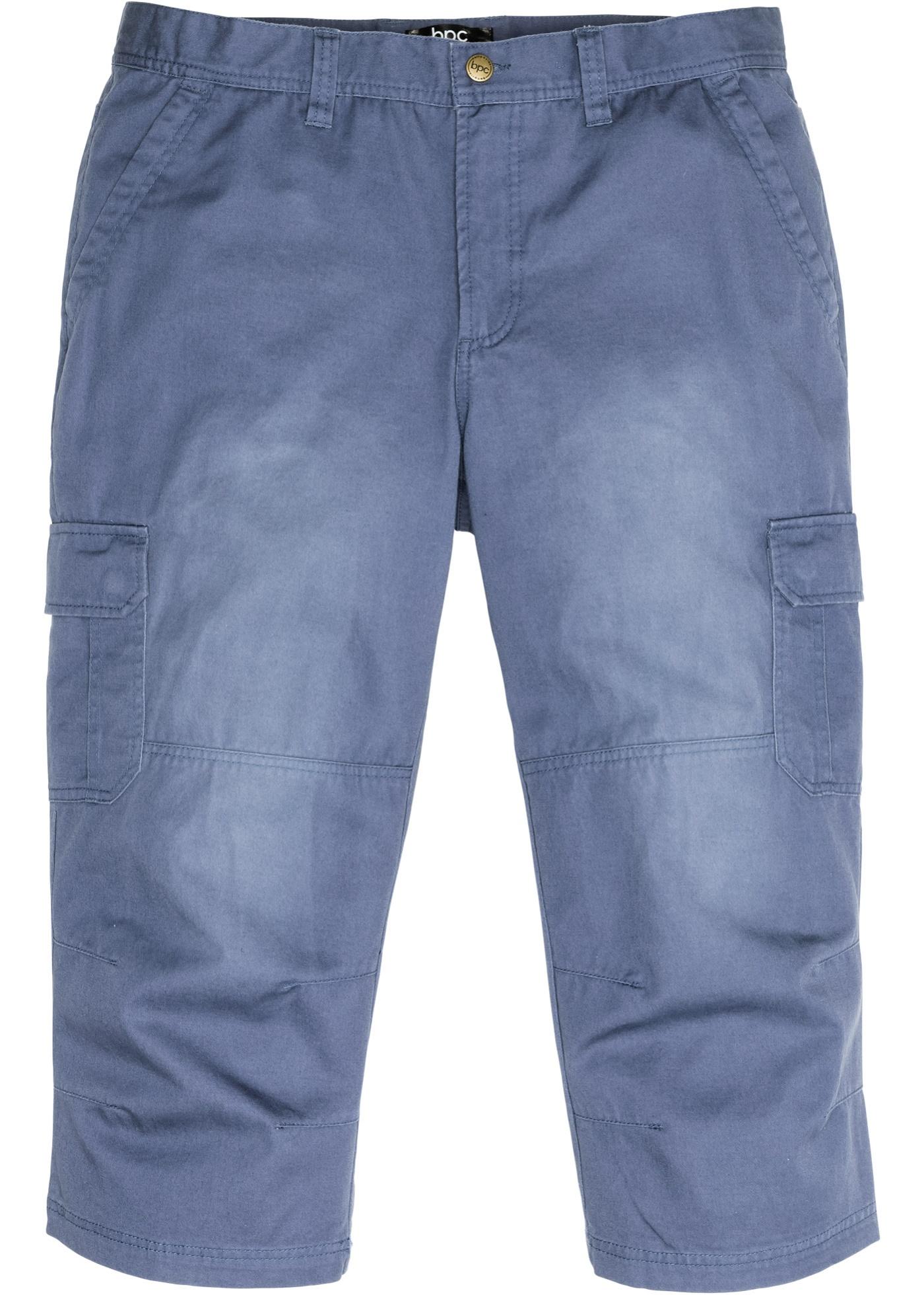 3/4 kargo kalhoty - Modrá
