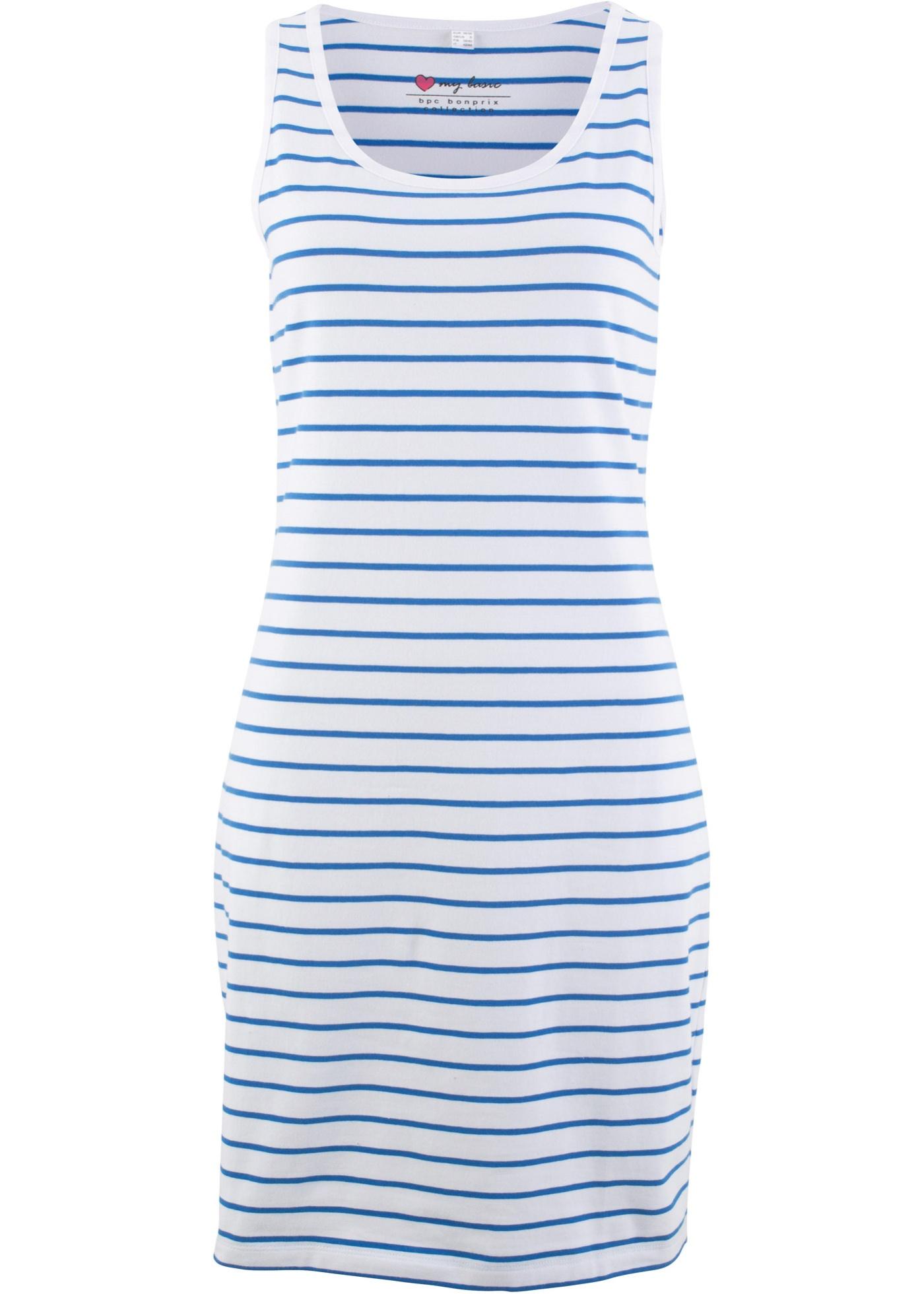 Strečové šaty - Modrá