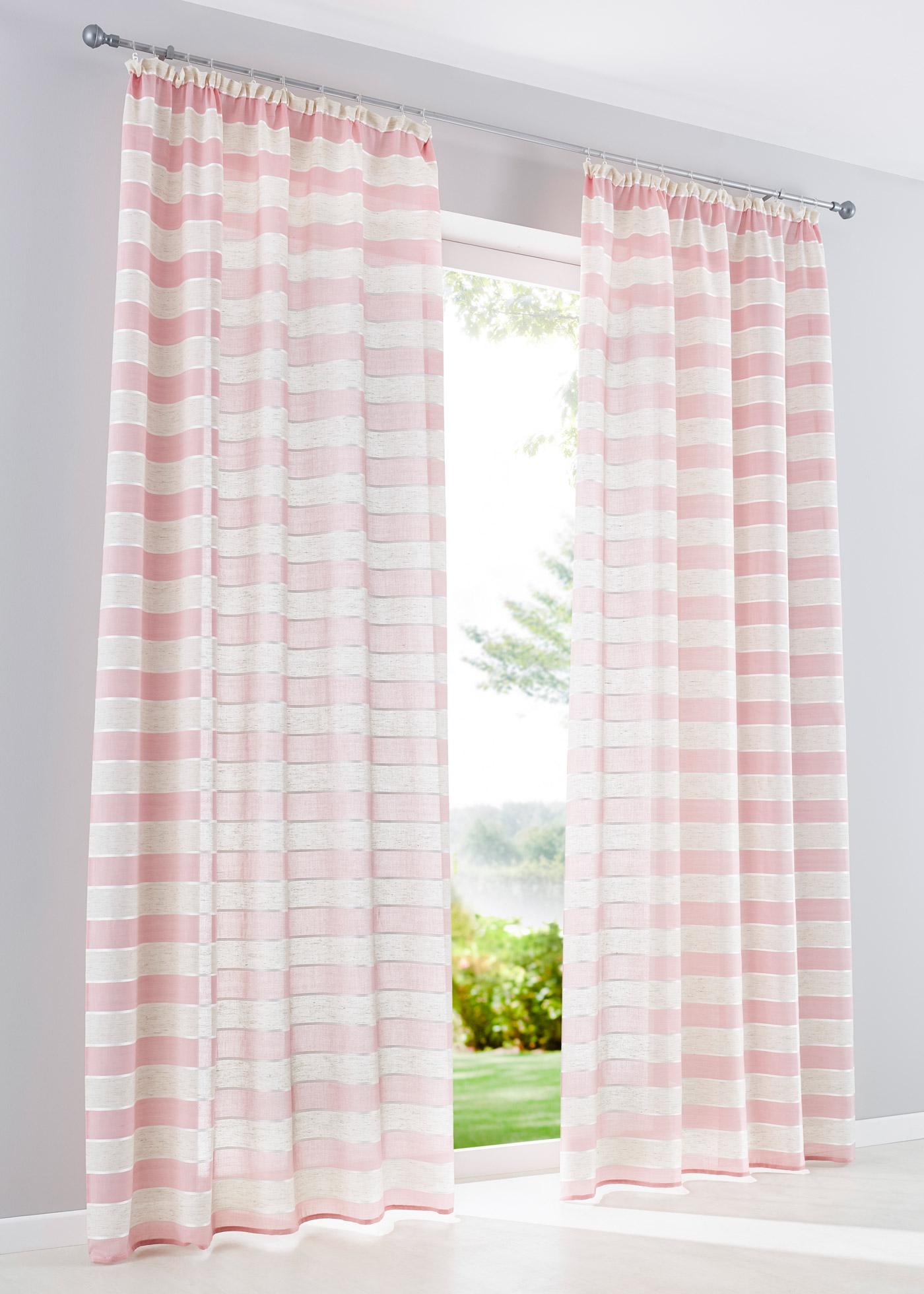 Záclona Morris (1 ks) - Růžová