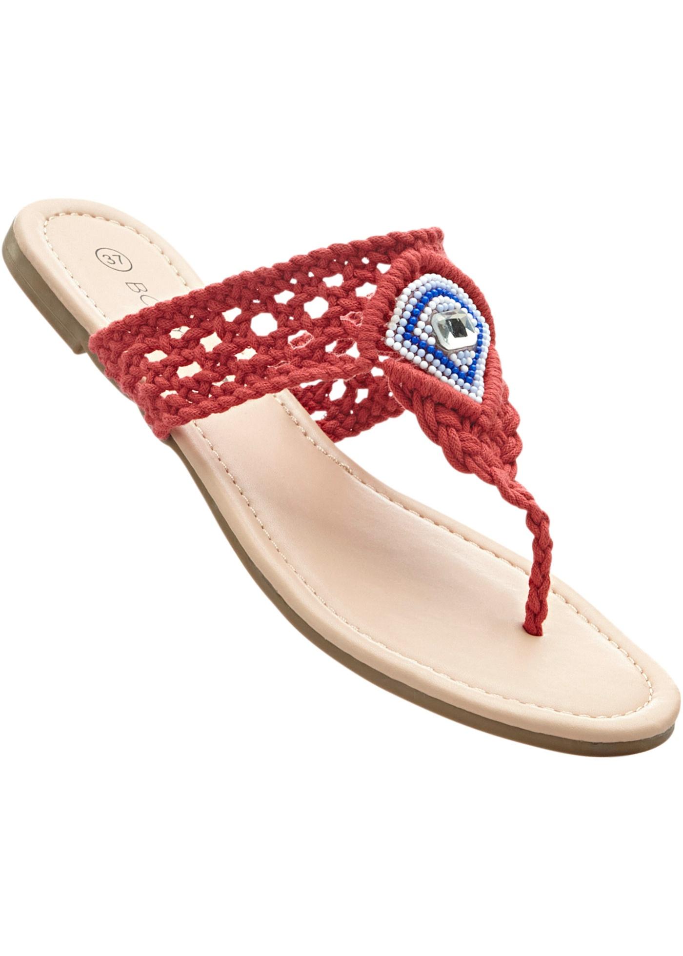 Pantofle s přepážkou na palec - Červená 505e2675ff