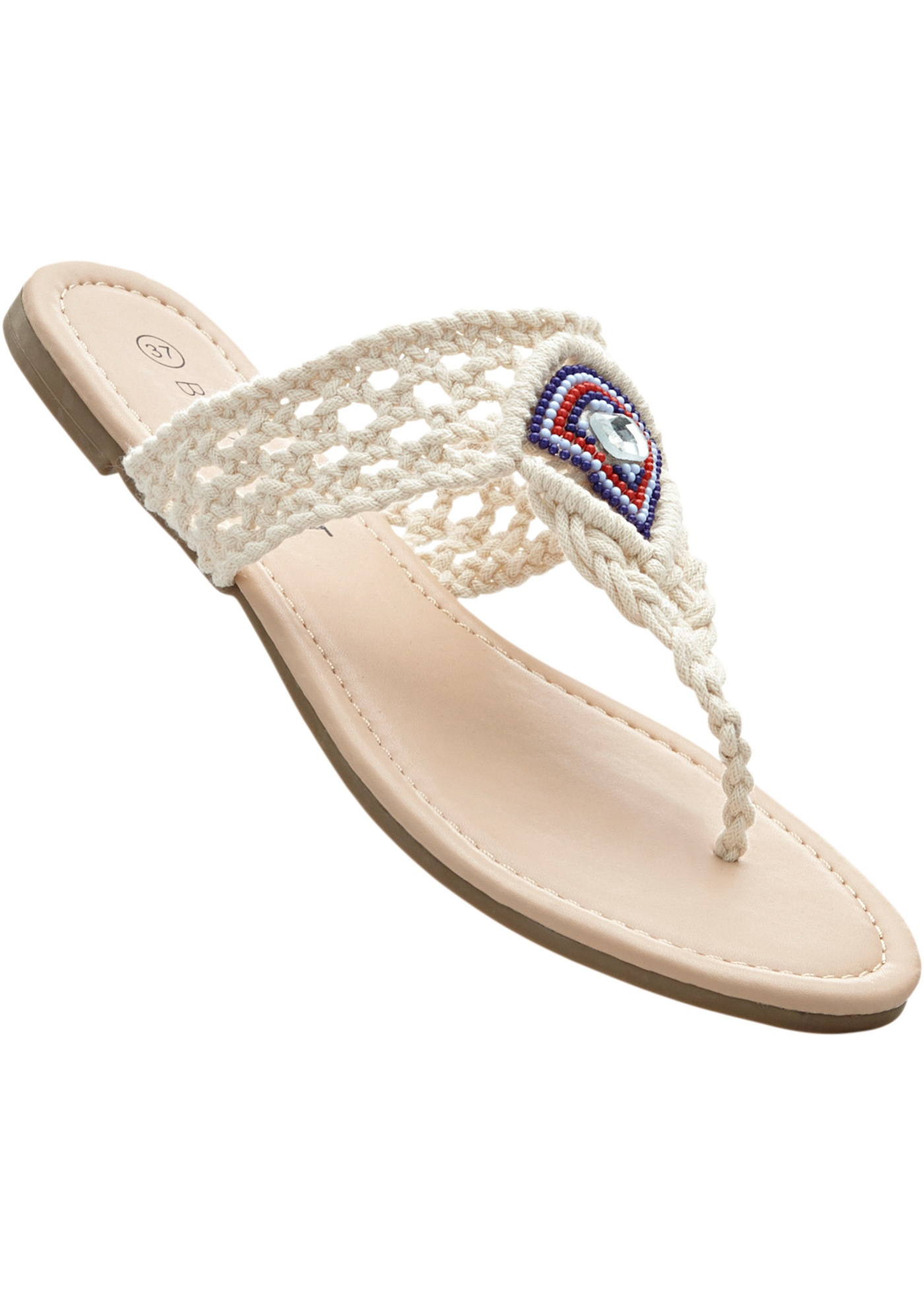Pantofle s přepážkou na palec - Béžová 759834e848