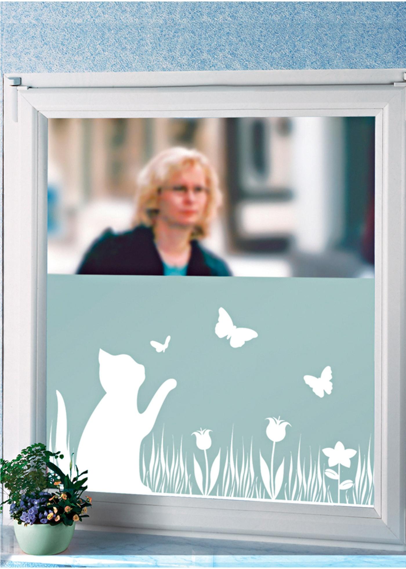 Neprůhledná okenní fólie - Šedá