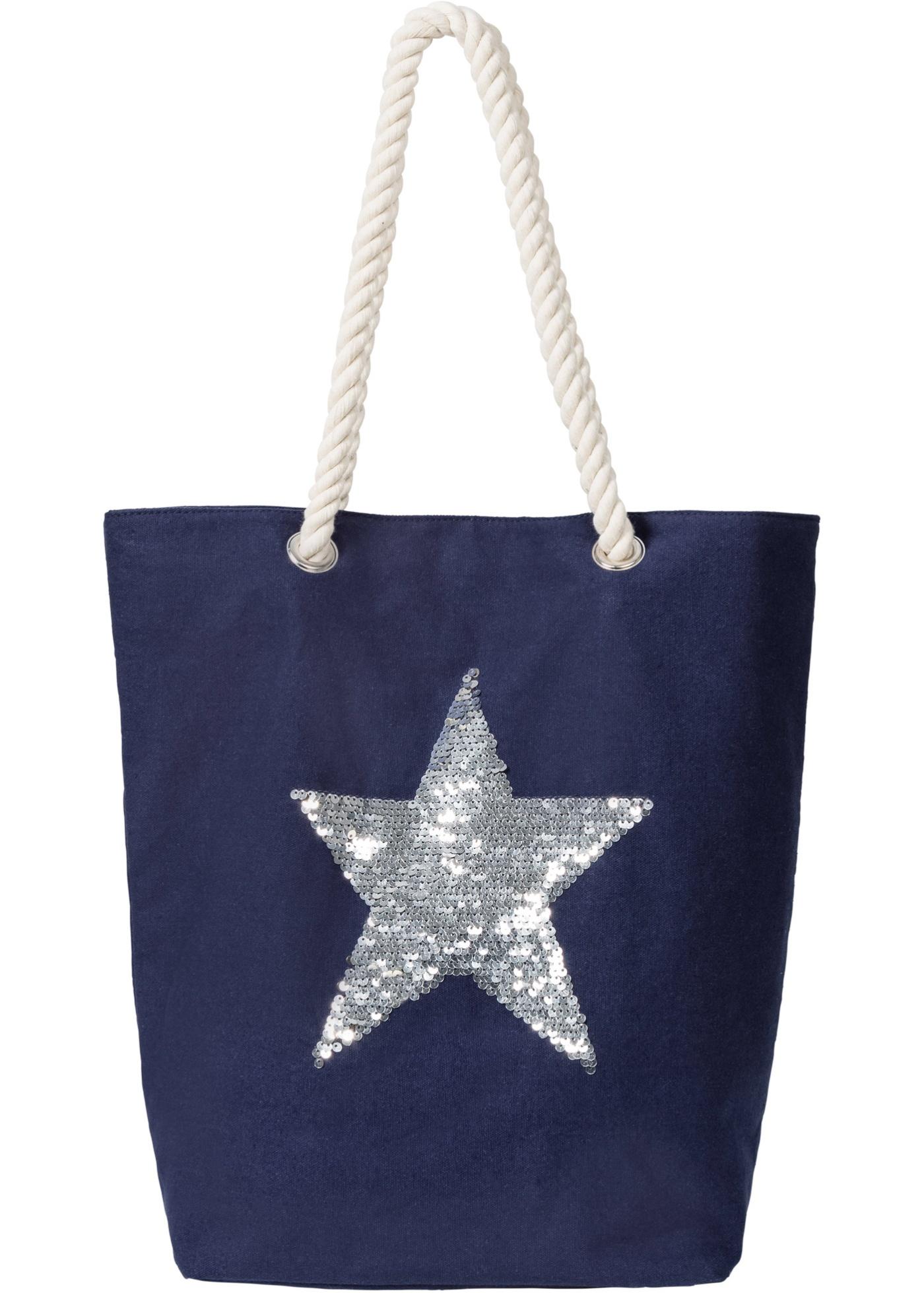 Nákupní taška s hvězdou - Modrá