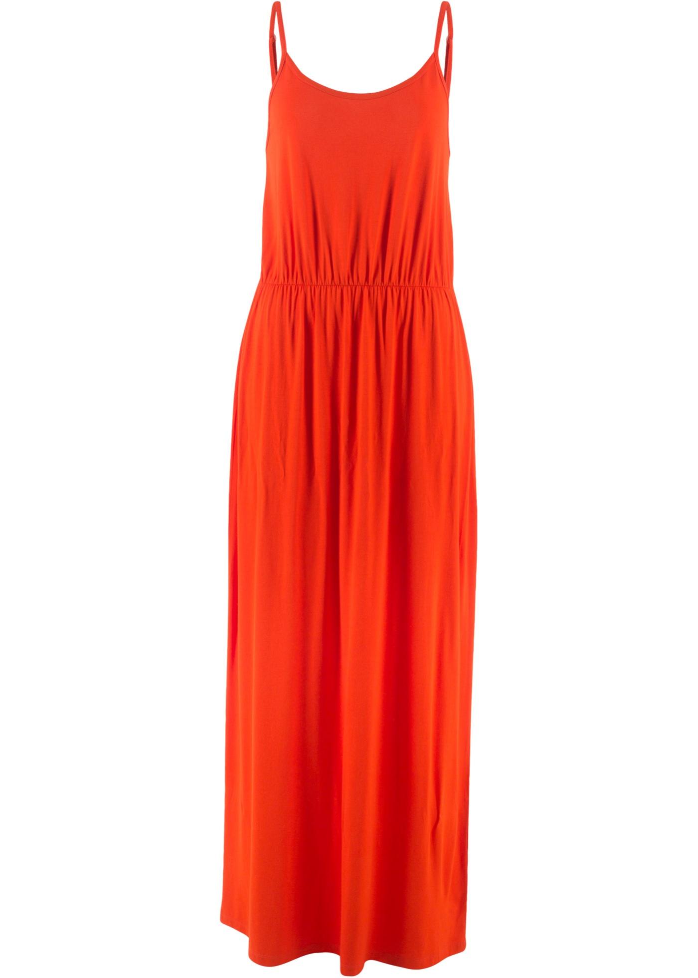 Úpletové šaty bez rukávů - Oranžová
