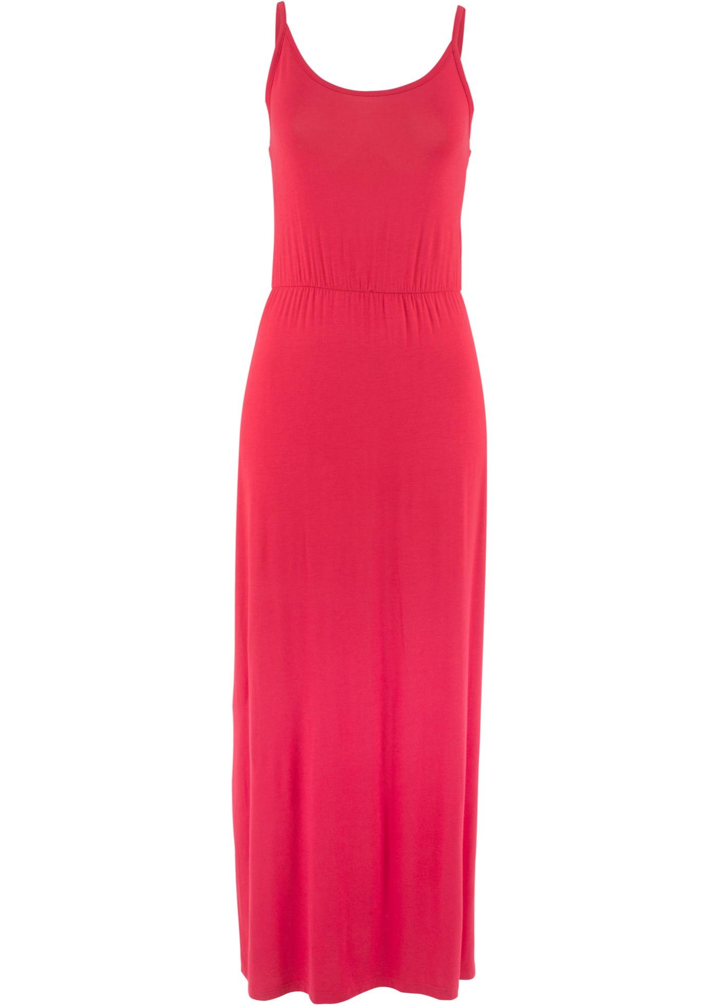 Úpletové šaty bez rukávů - Červená
