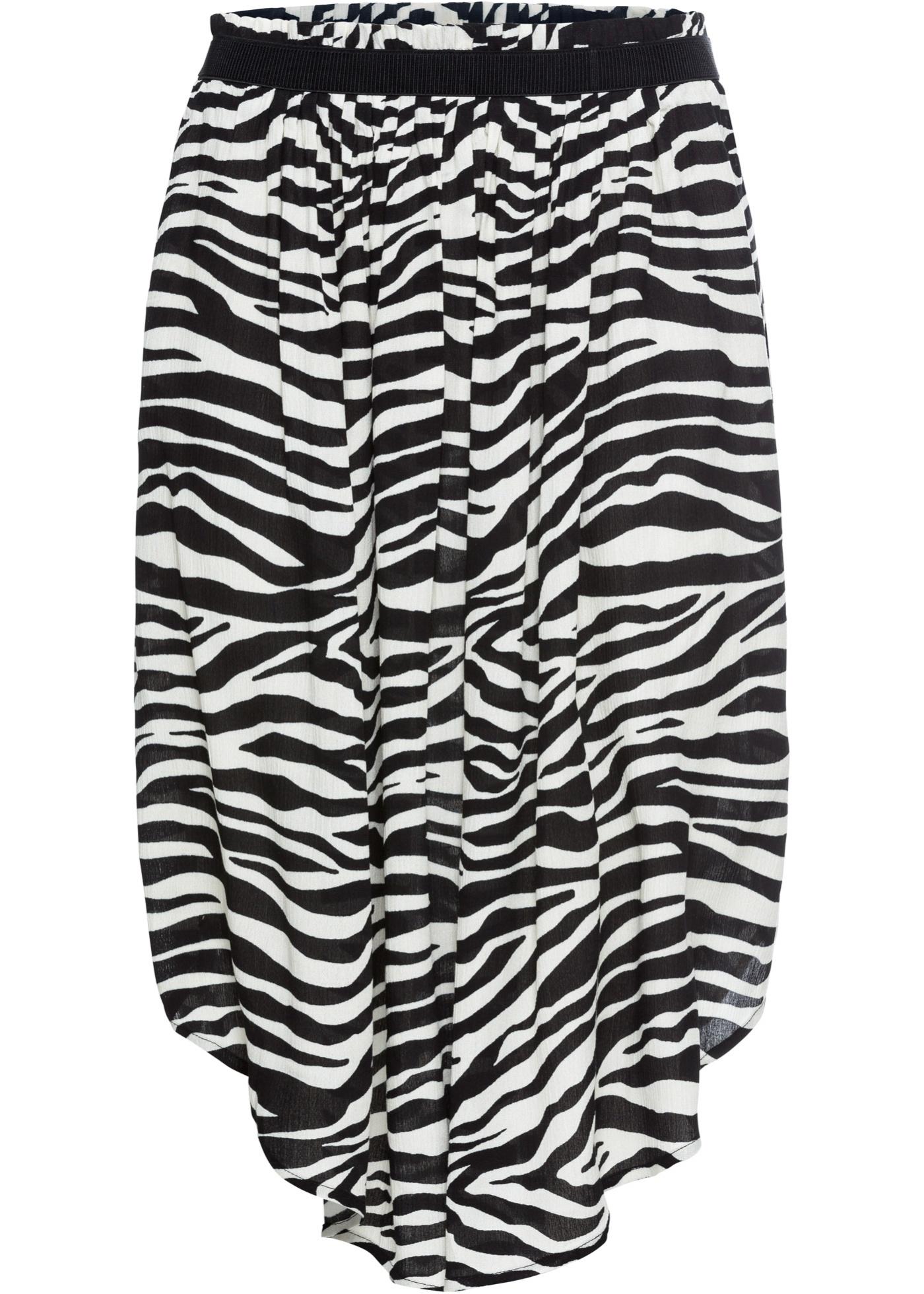 Široká sukně v délce midi - Černá