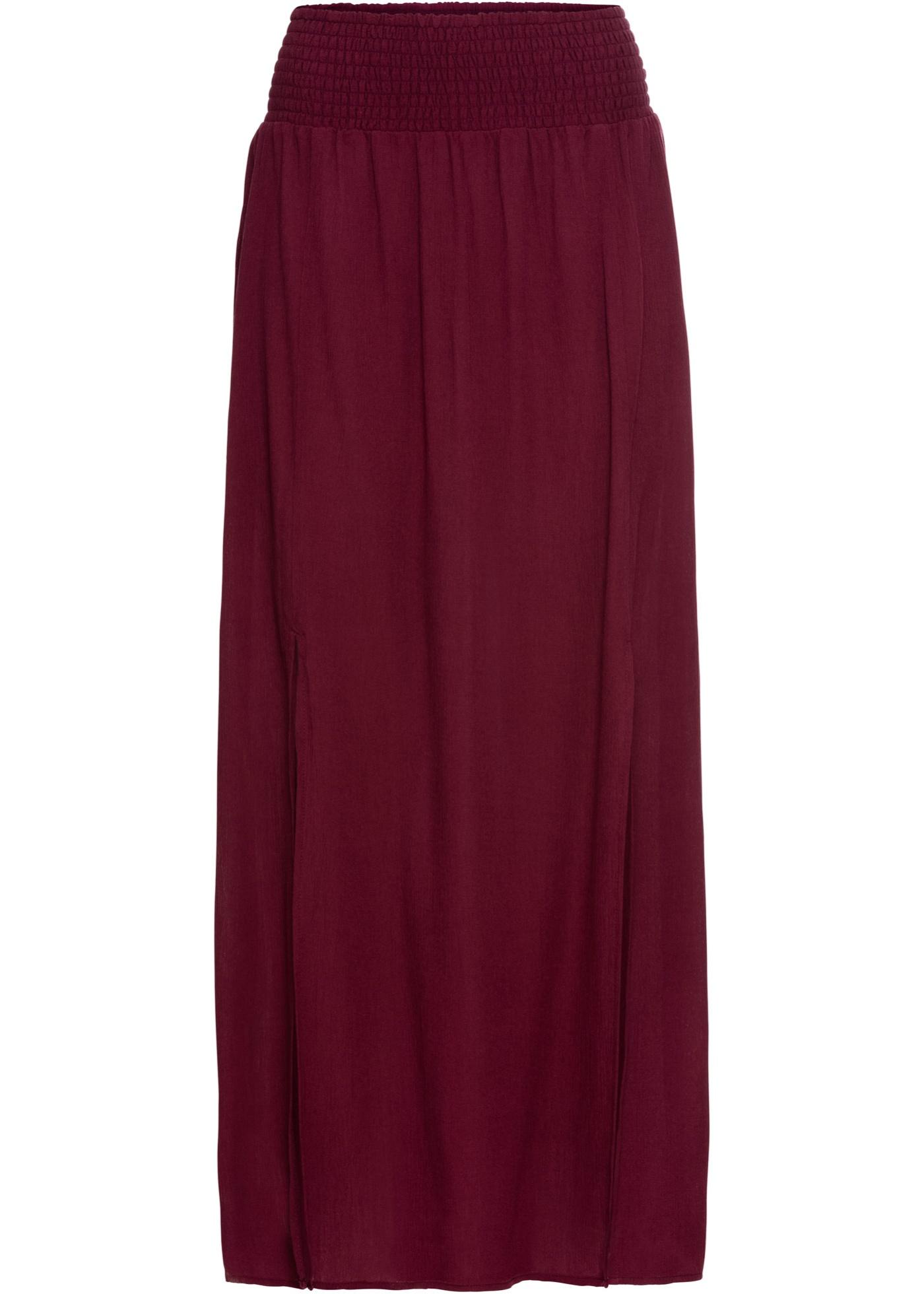 Dlouhá sukně s rozparky - Červená