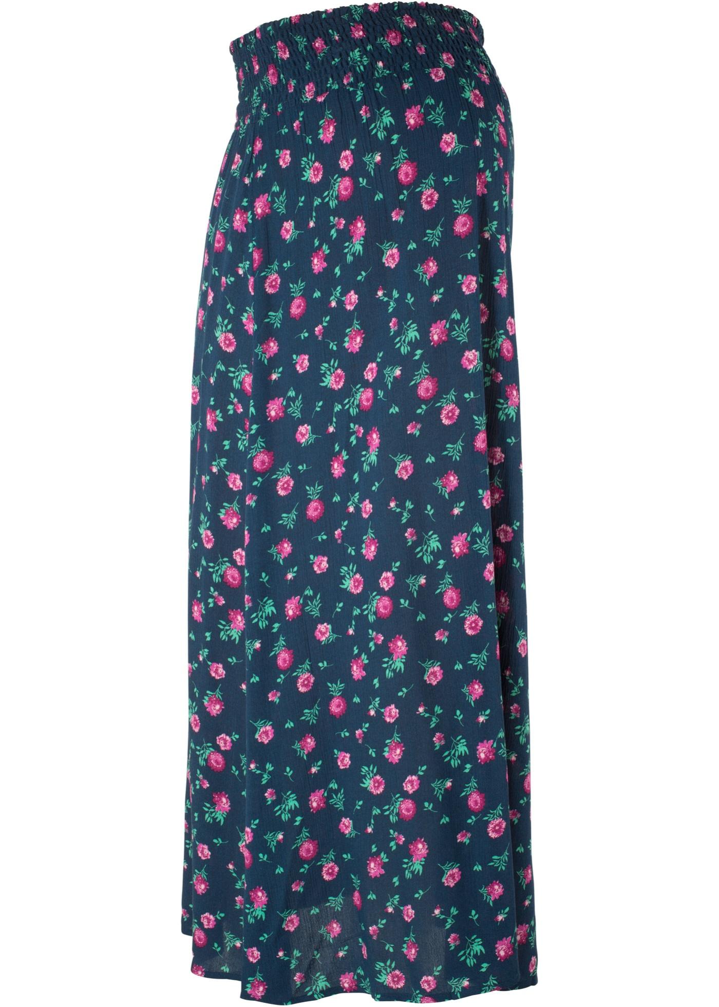 Těhotenská sukně, dlouhá - Modrá