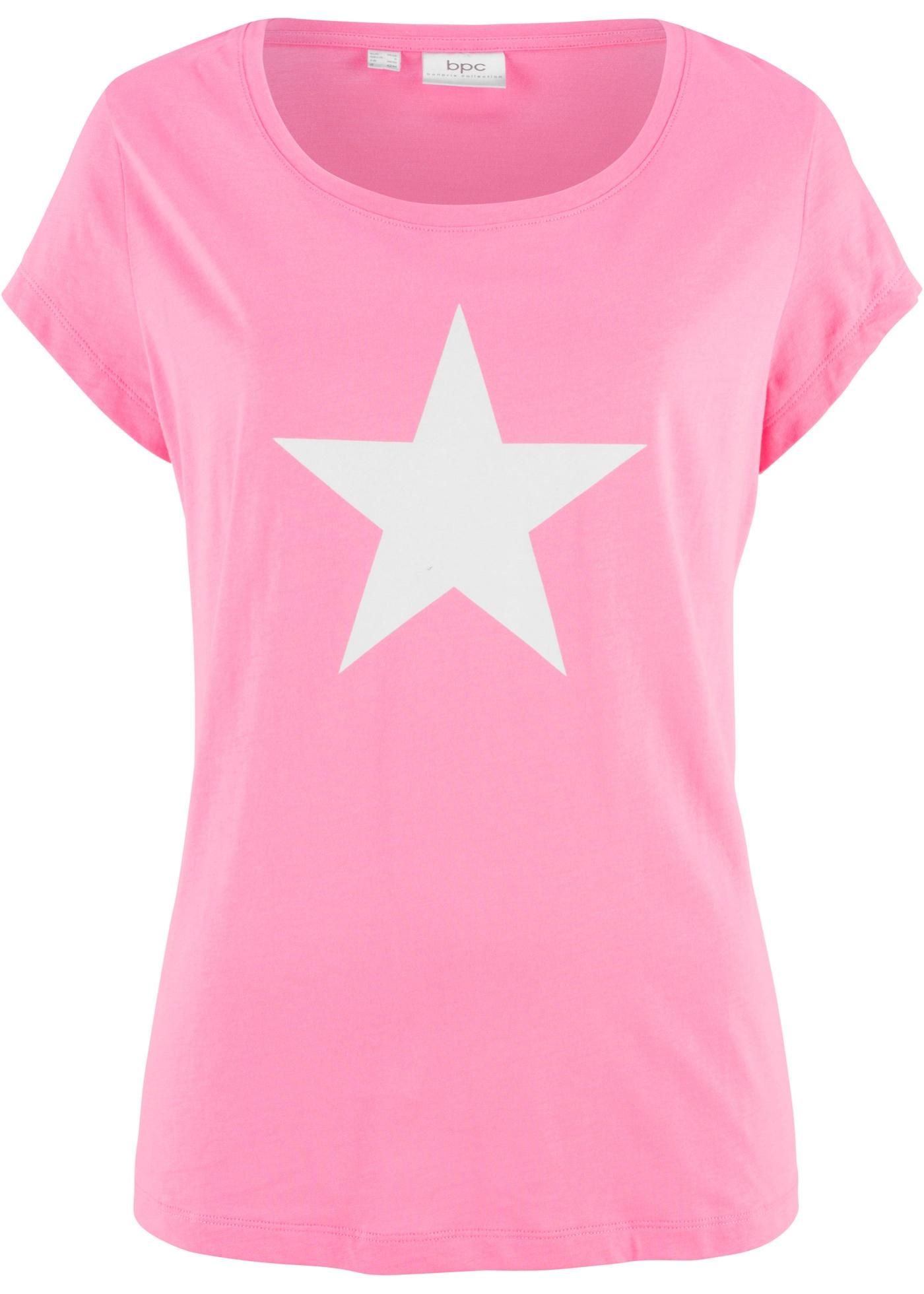 Tričko s potiskem hvězdy - Růžová a0aaf8f317