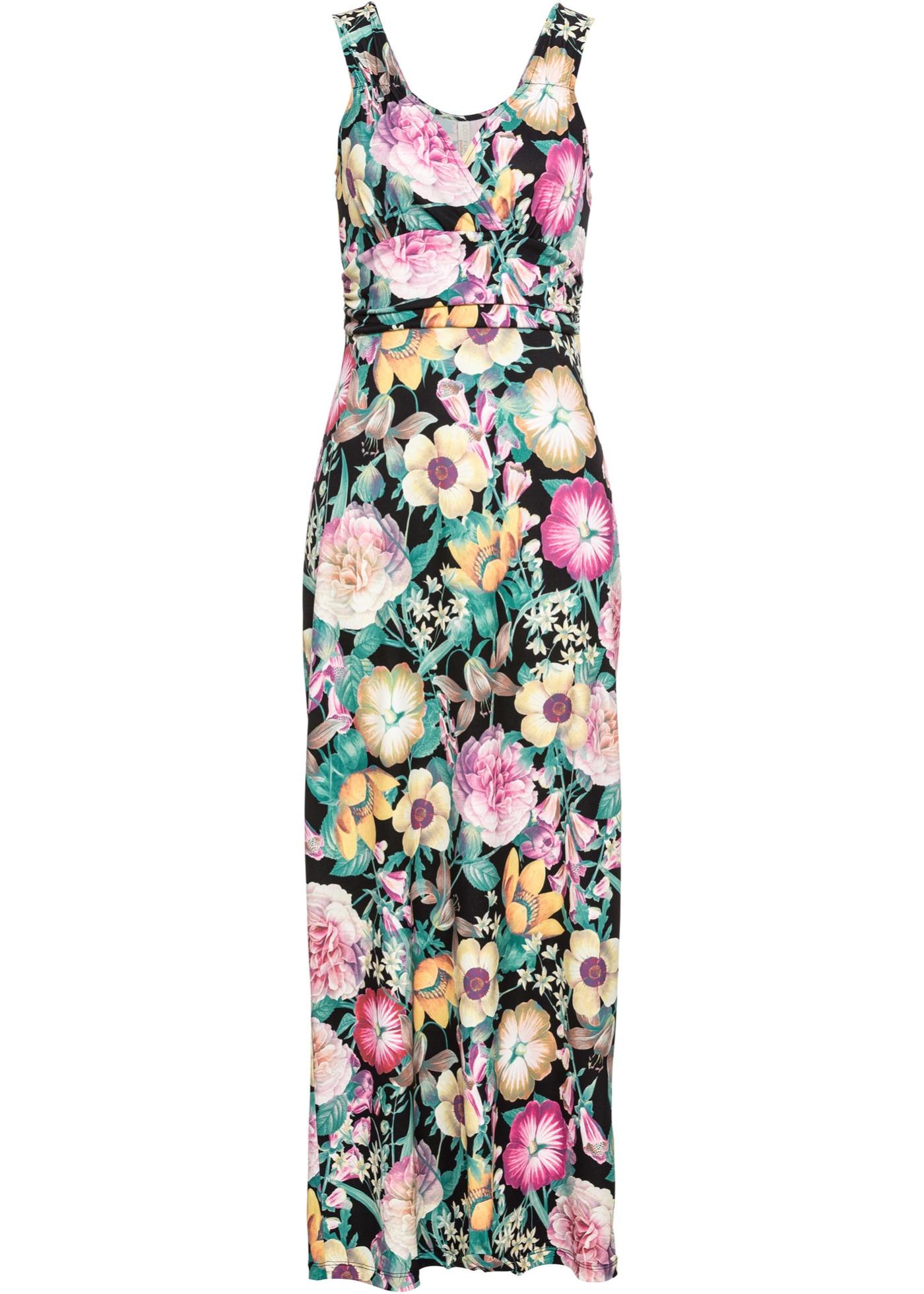 8dd05c408f3 Letní šaty s květinovým potiskem - Černá
