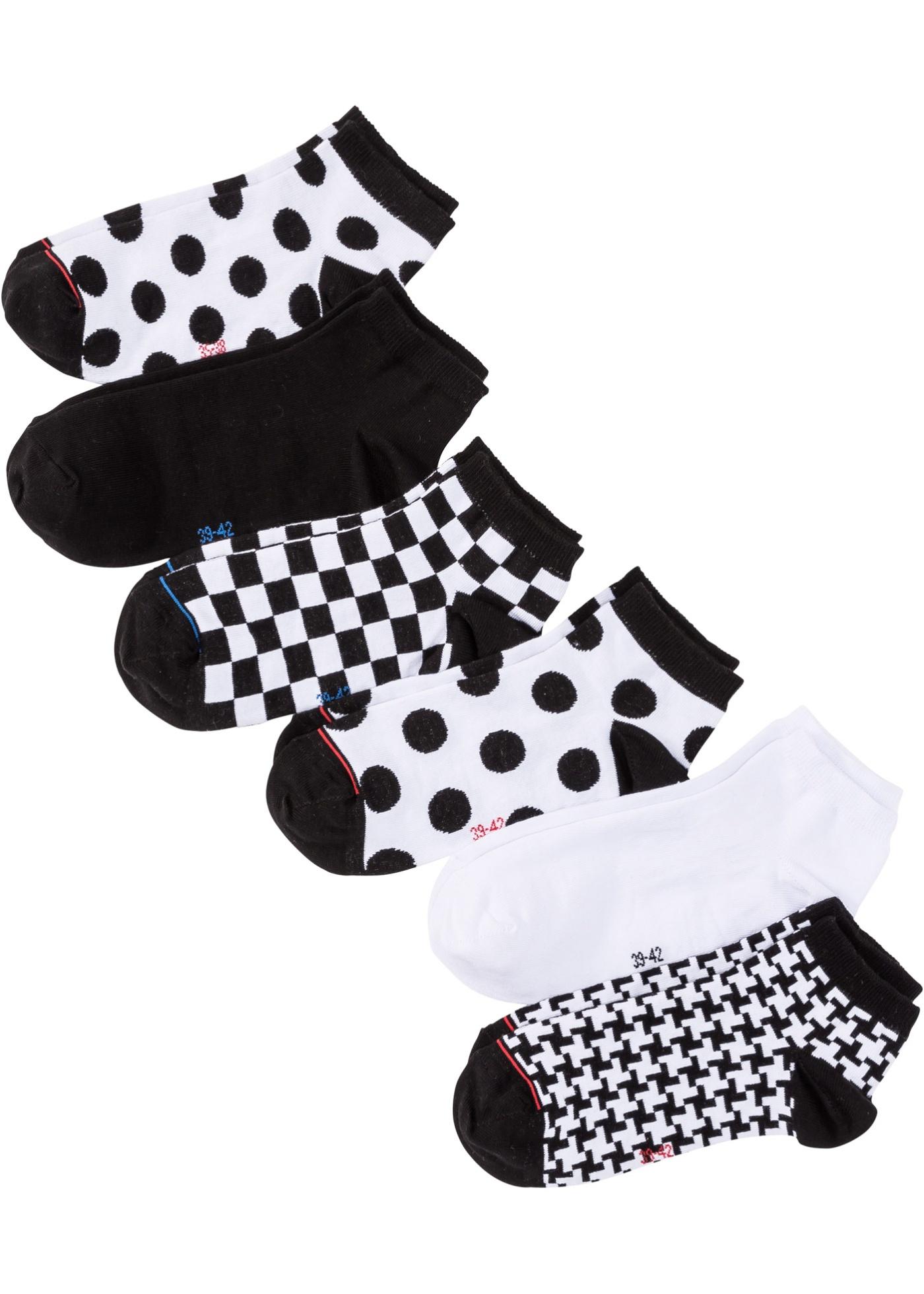Nízké dámské ponožky (6 párů) - Černá