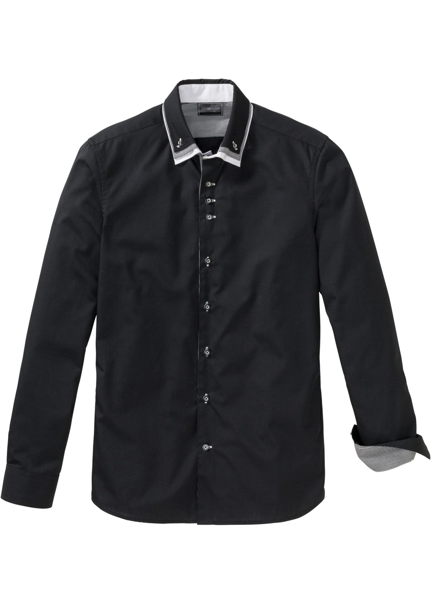 Business košile Slim Fit - Černá