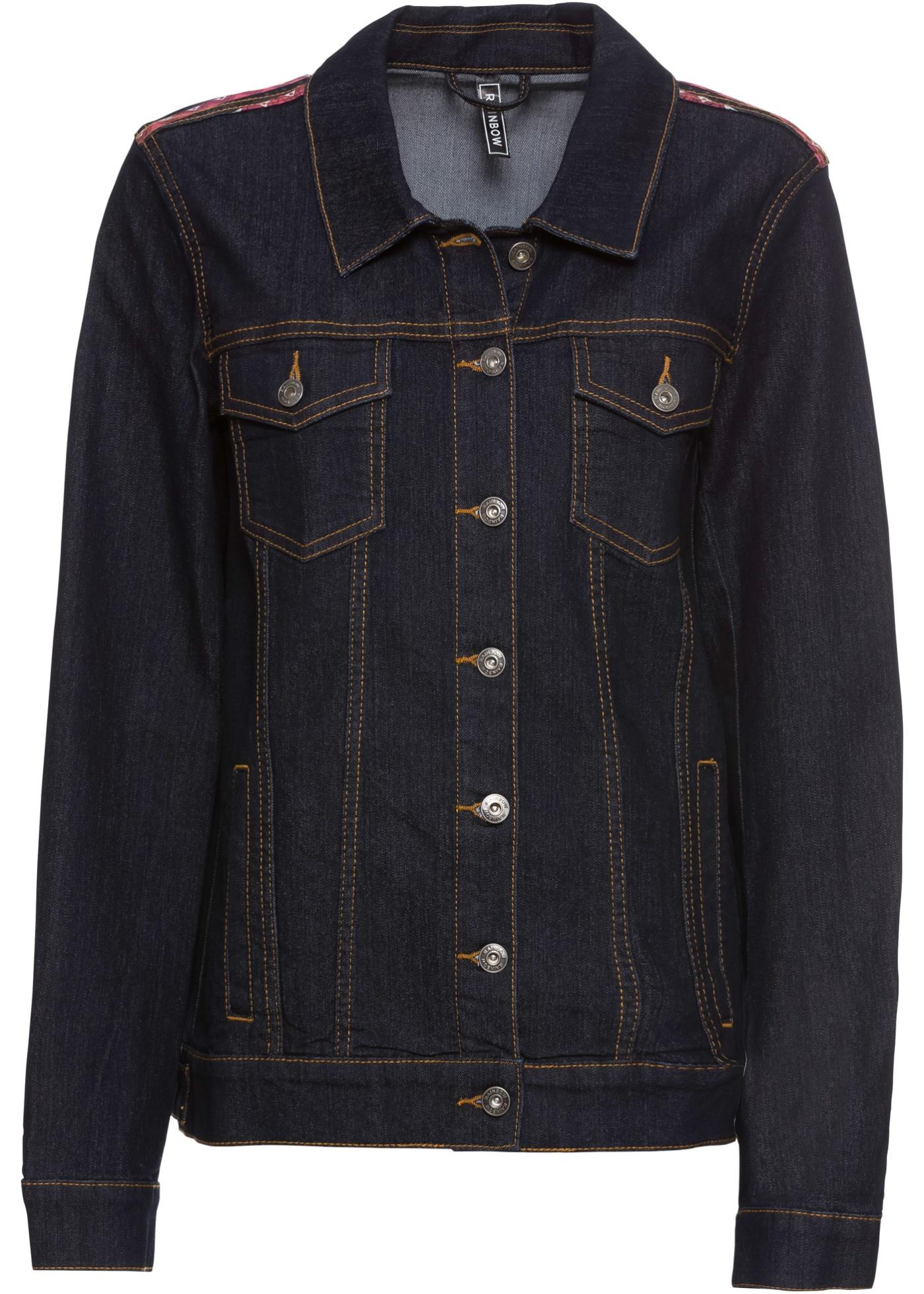 Džínová bunda - Černá