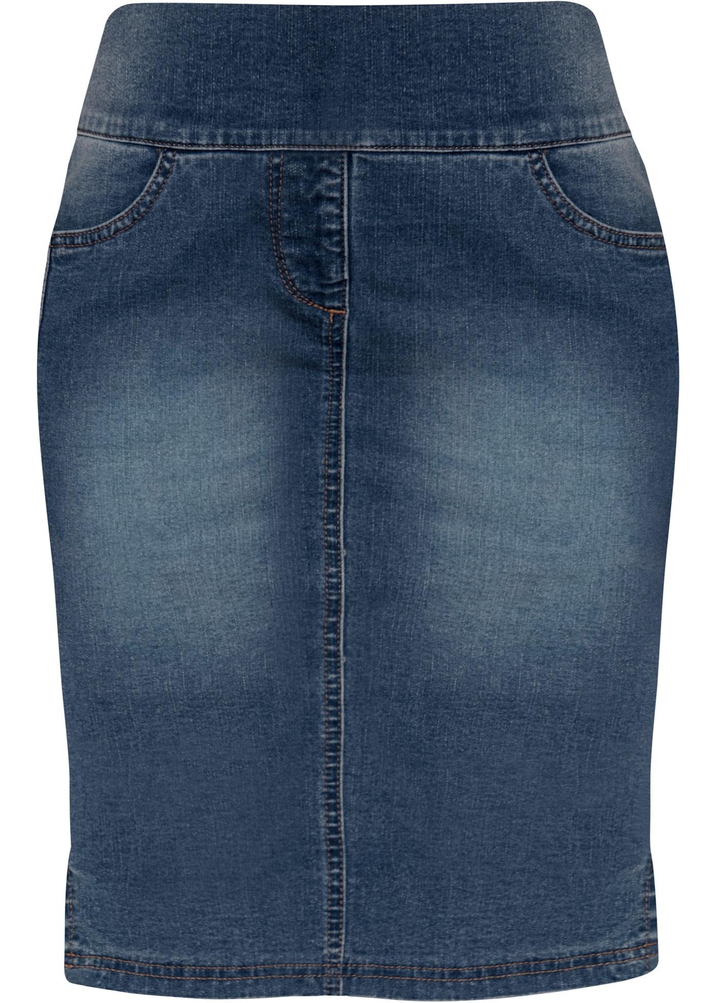 Strečová sukně s vysokým pasem - Černá fa32e993a0