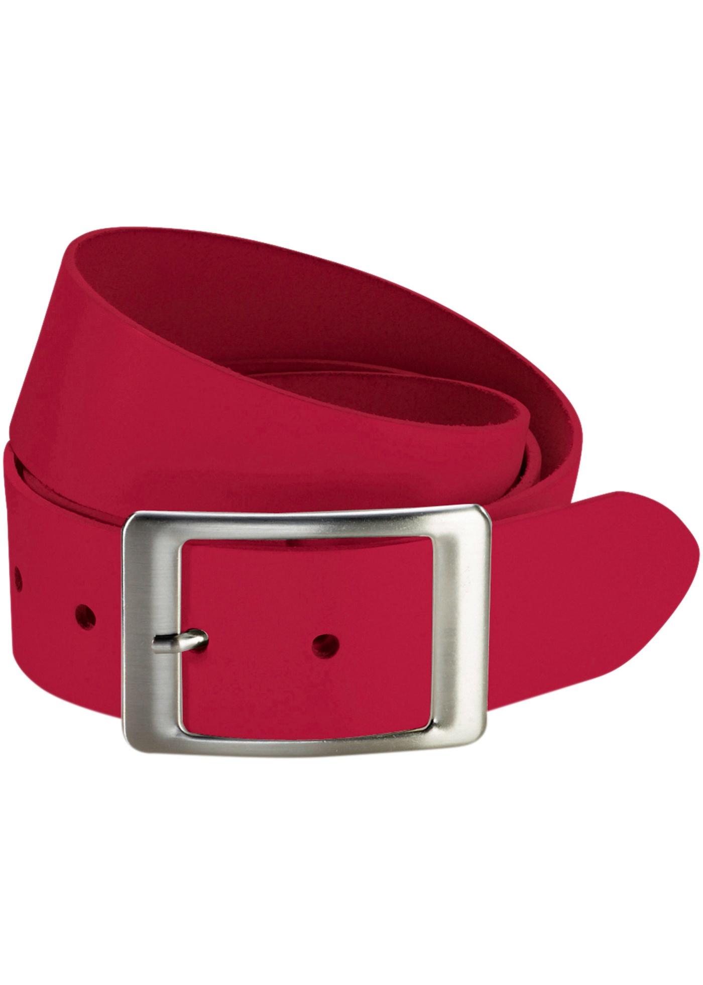 Kožený pásek - Červená