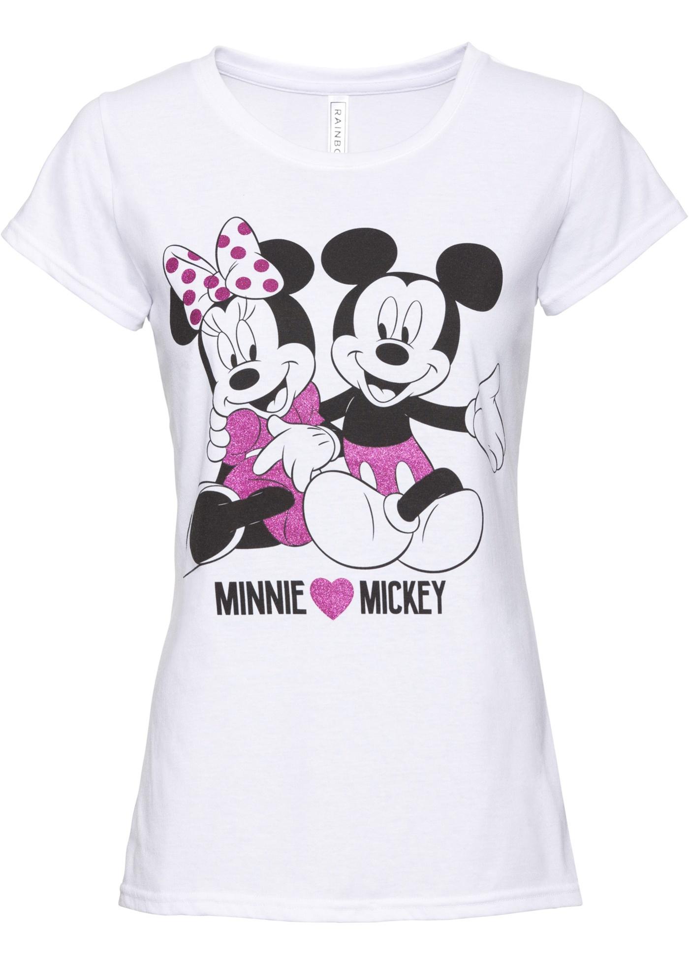 680c855aba9d Tričko Mickey Mouse - Bílá