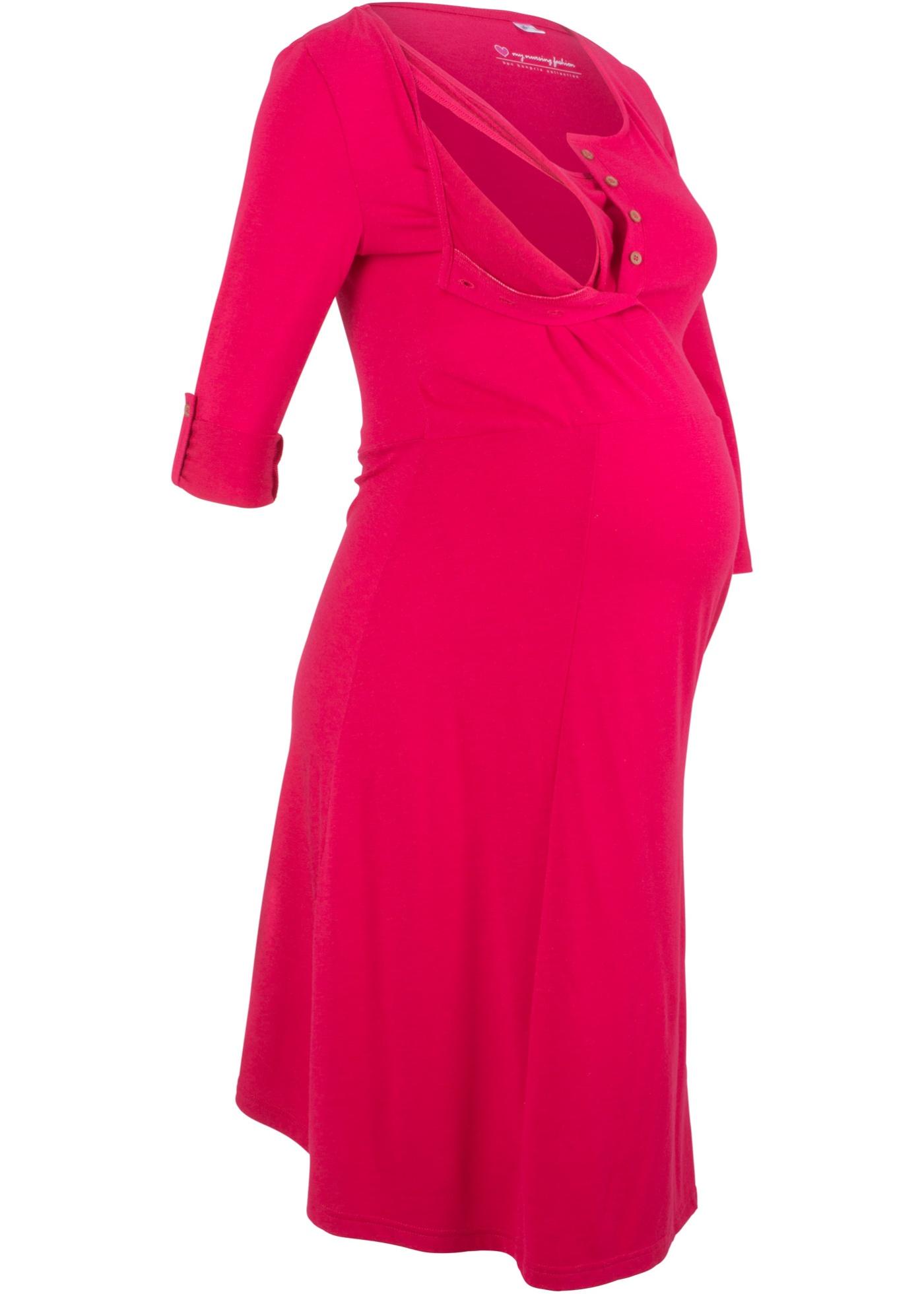 Těhotenské/kojicí šaty - Červená
