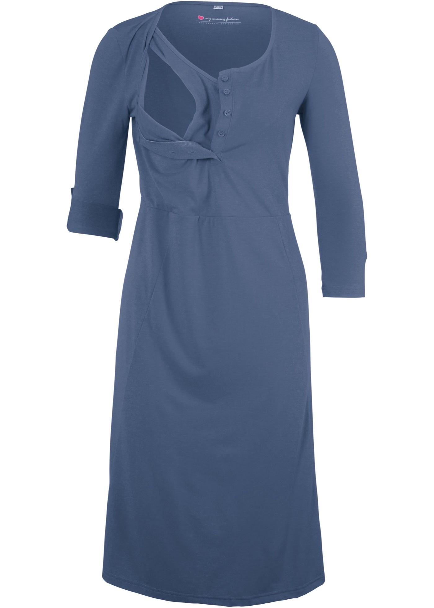 Těhotenské/kojicí šaty - Modrá