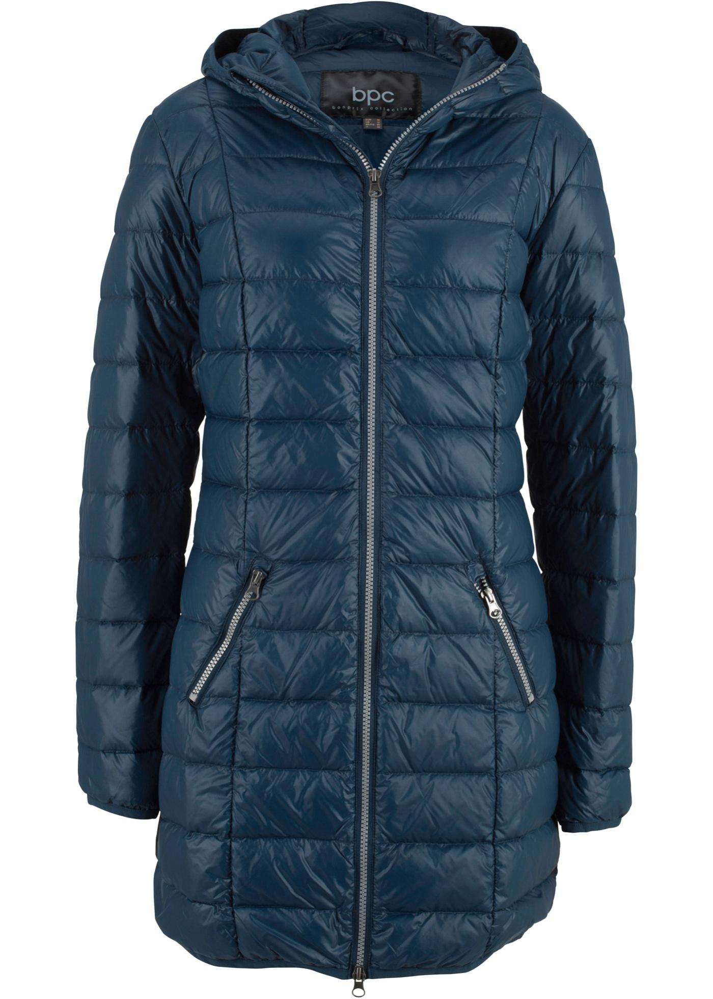 Velmi lehký péřový kabát - Modrá