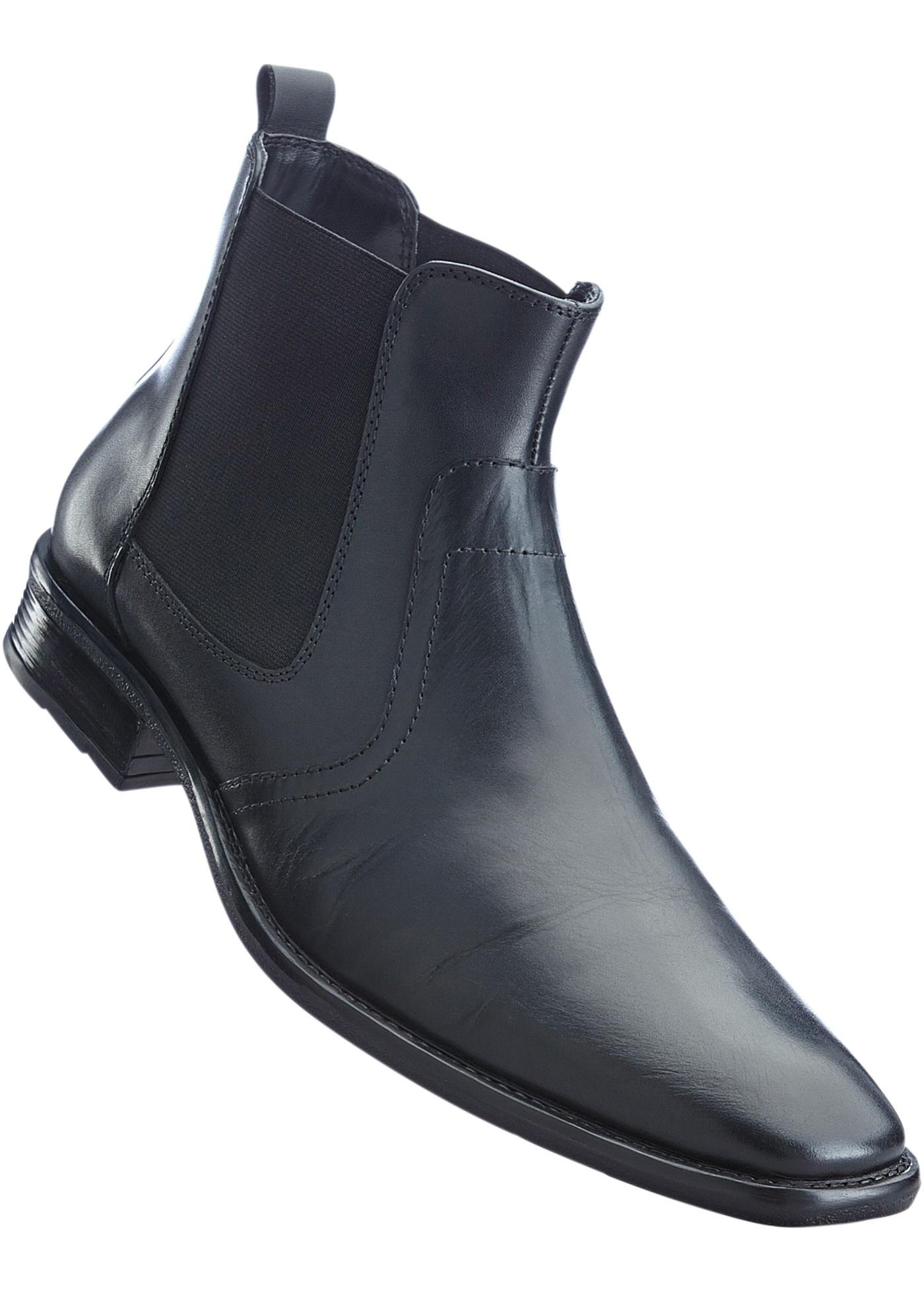 201125a3184f Kožená obuv Chelsea - Černá