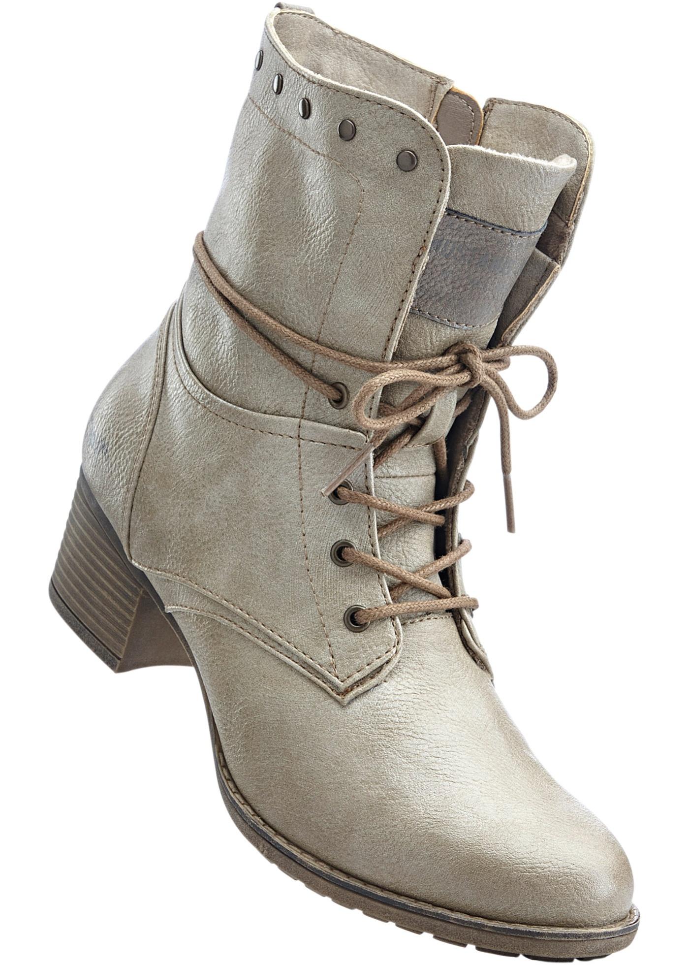 Kotníčková obuv značky Mustang - Béžová