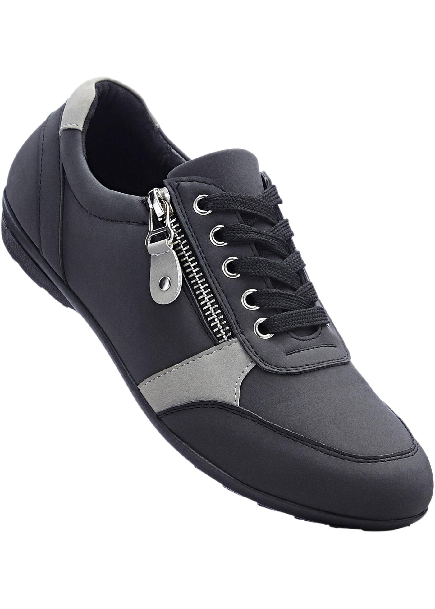 Pohodlná obuv na zavazování - Černá feeb1aeba5