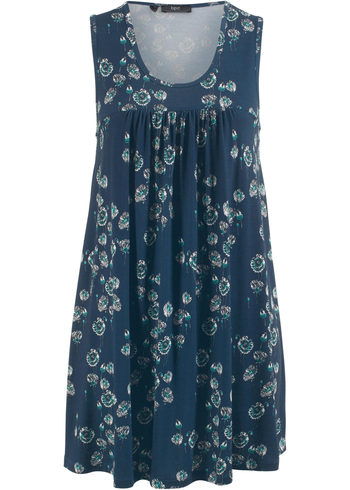 Šaty bez rukávů - Modrá