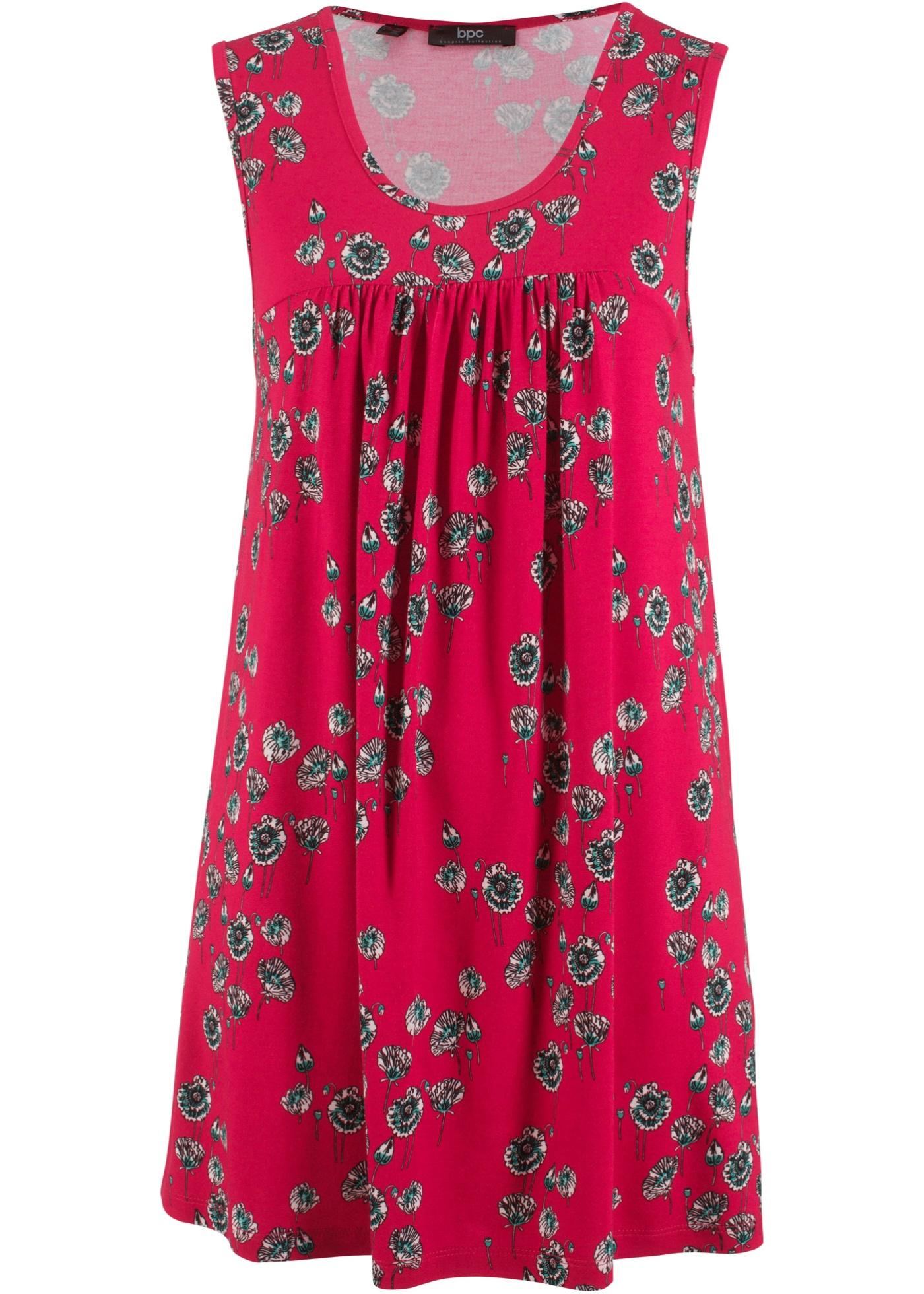 Šaty bez rukávů - Červená