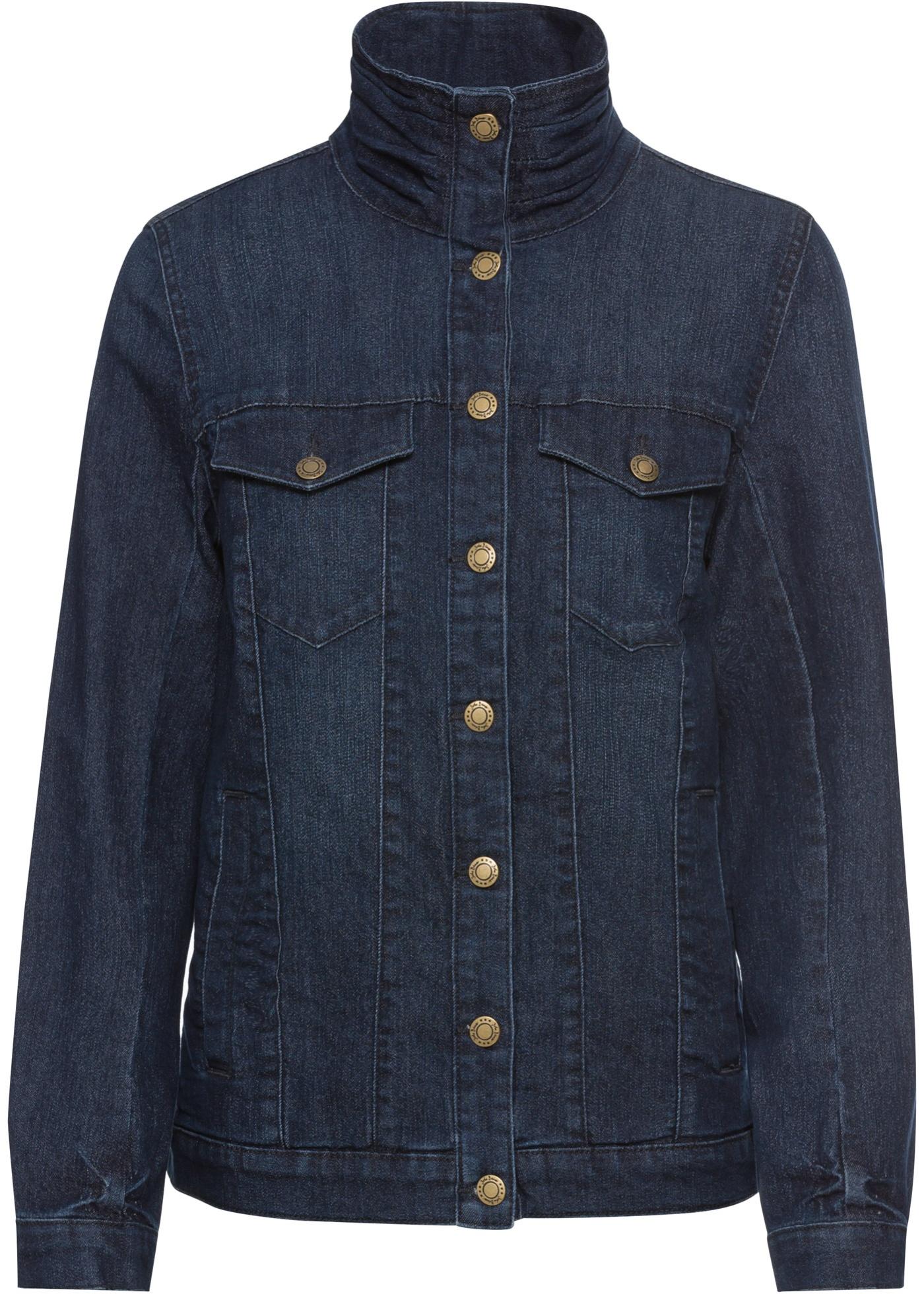 5816b258387d Komfortní strečová džínová bunda - Modrá