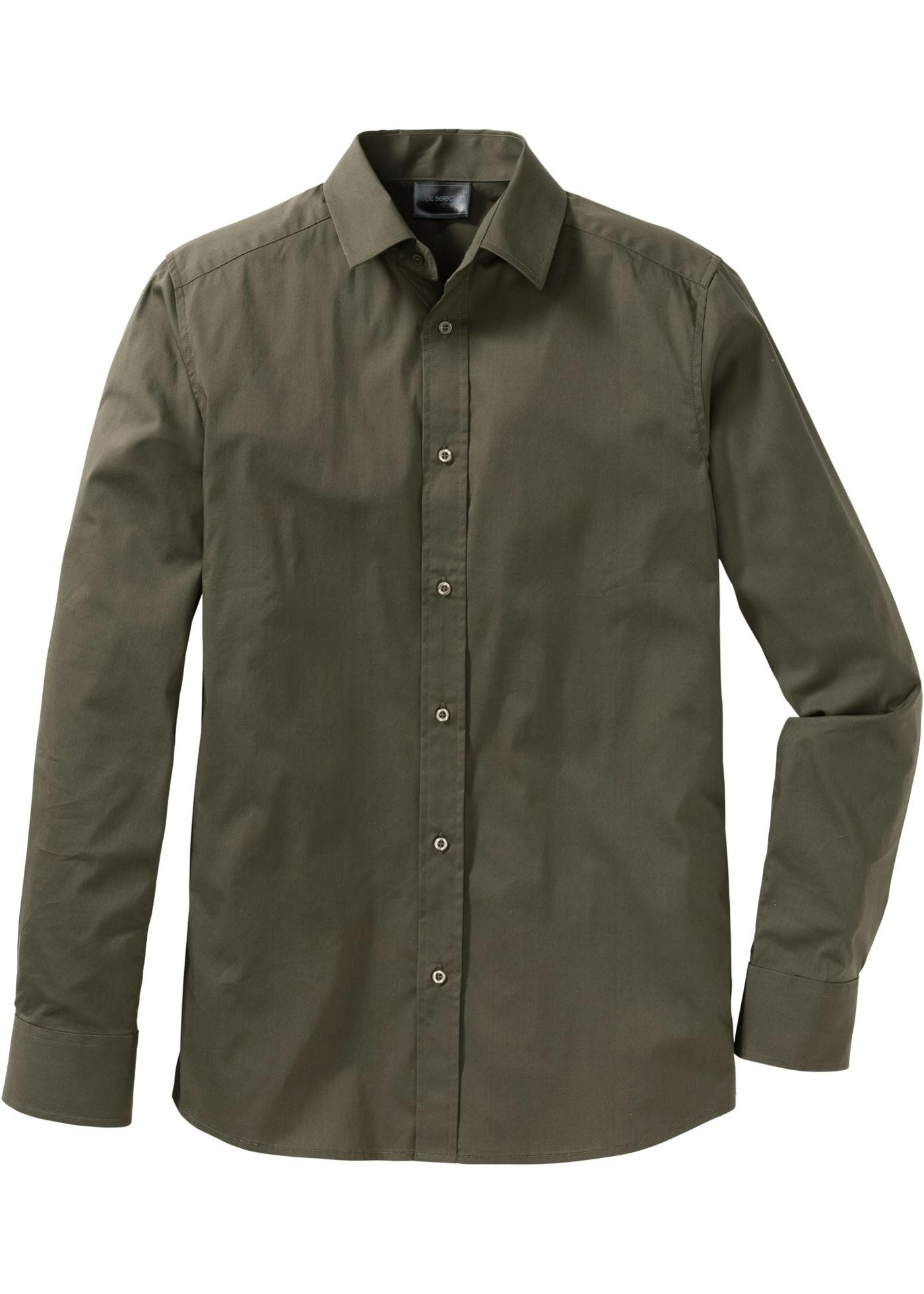 02af1081ba4 Strečová košile Slim Fit - Zelená