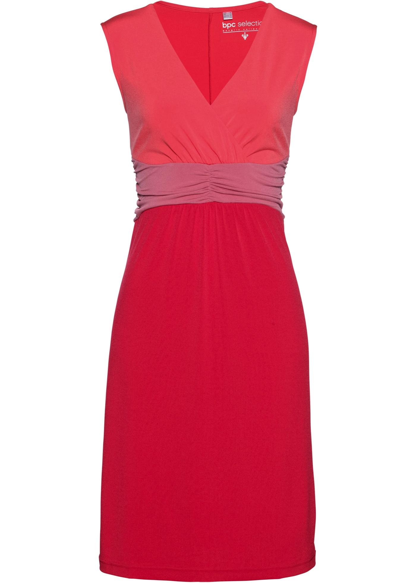 Šaty z jemného úpletu - Červená 7d5dbf6d29