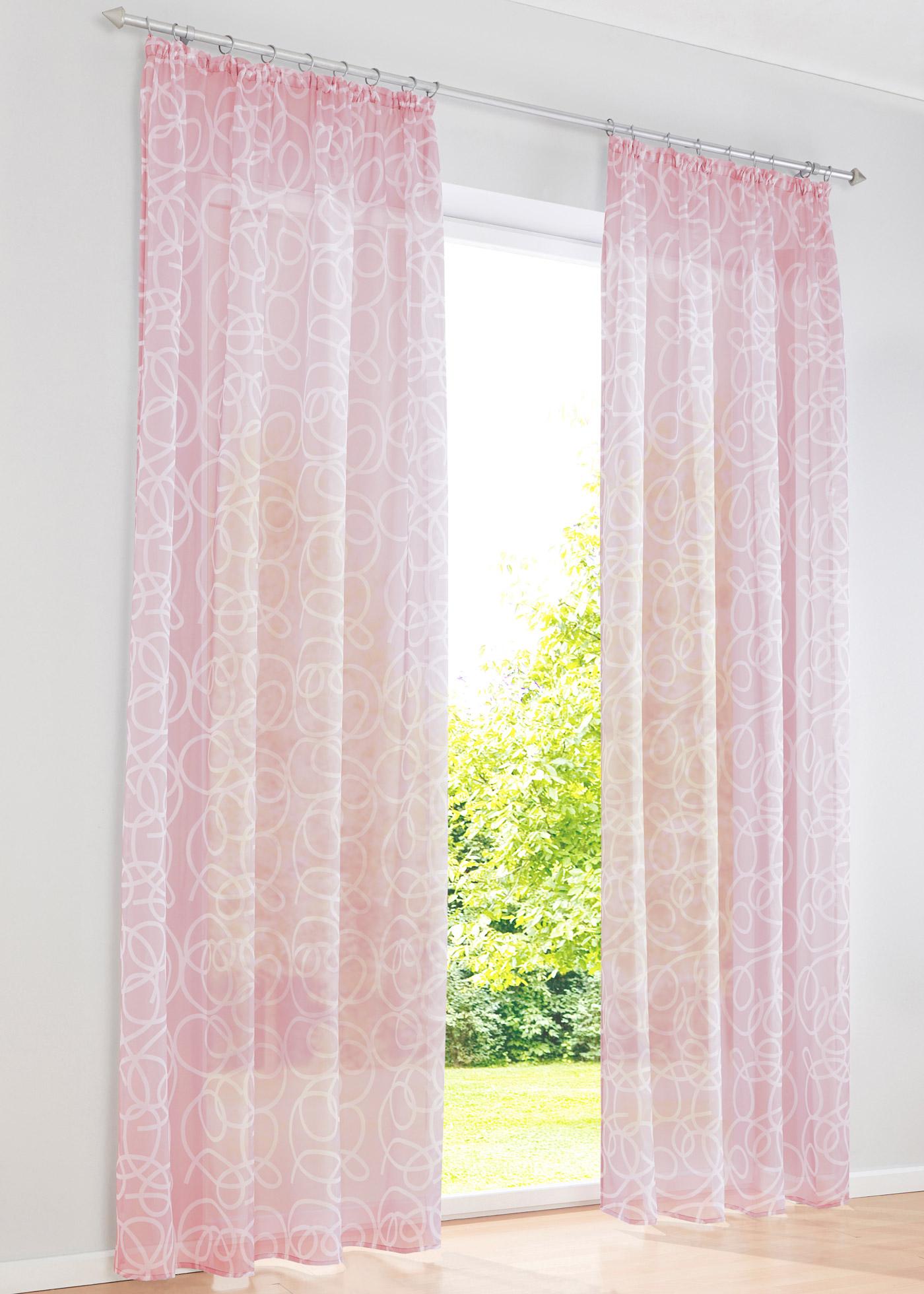 Záclona Vivien (1 ks v balení) - Růžová