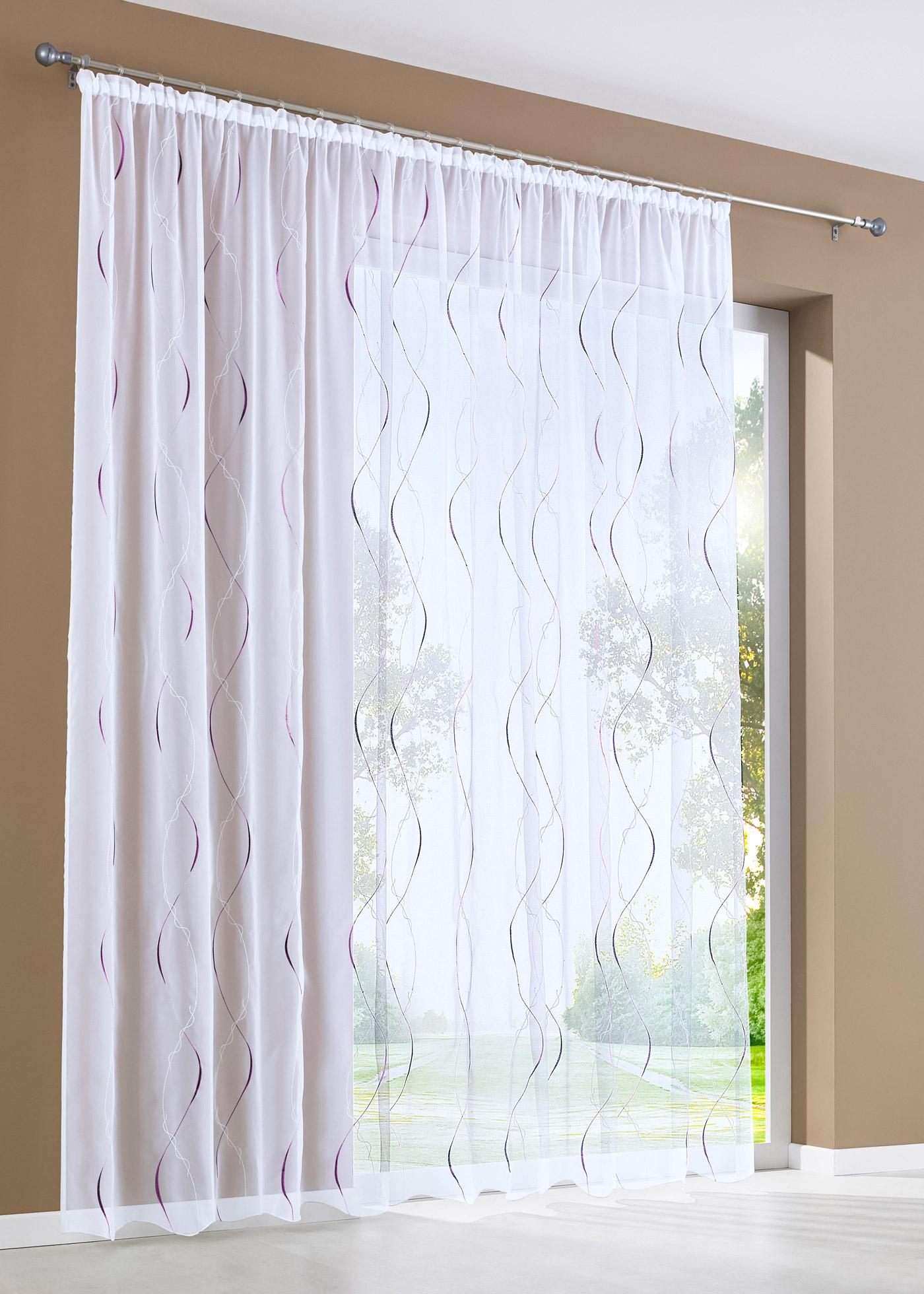 Záclona Turin (1 ks v balení) - Bílá