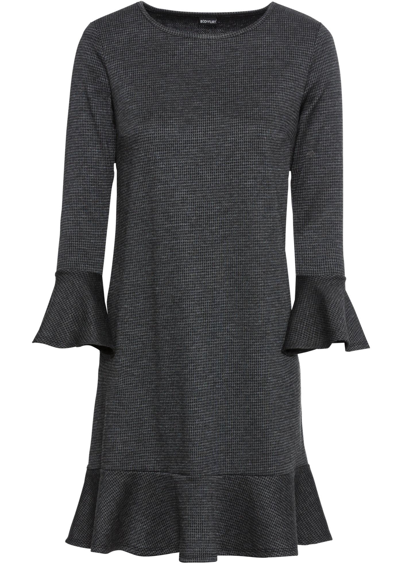 413e331ecce Elastické žakárové šaty - Černá