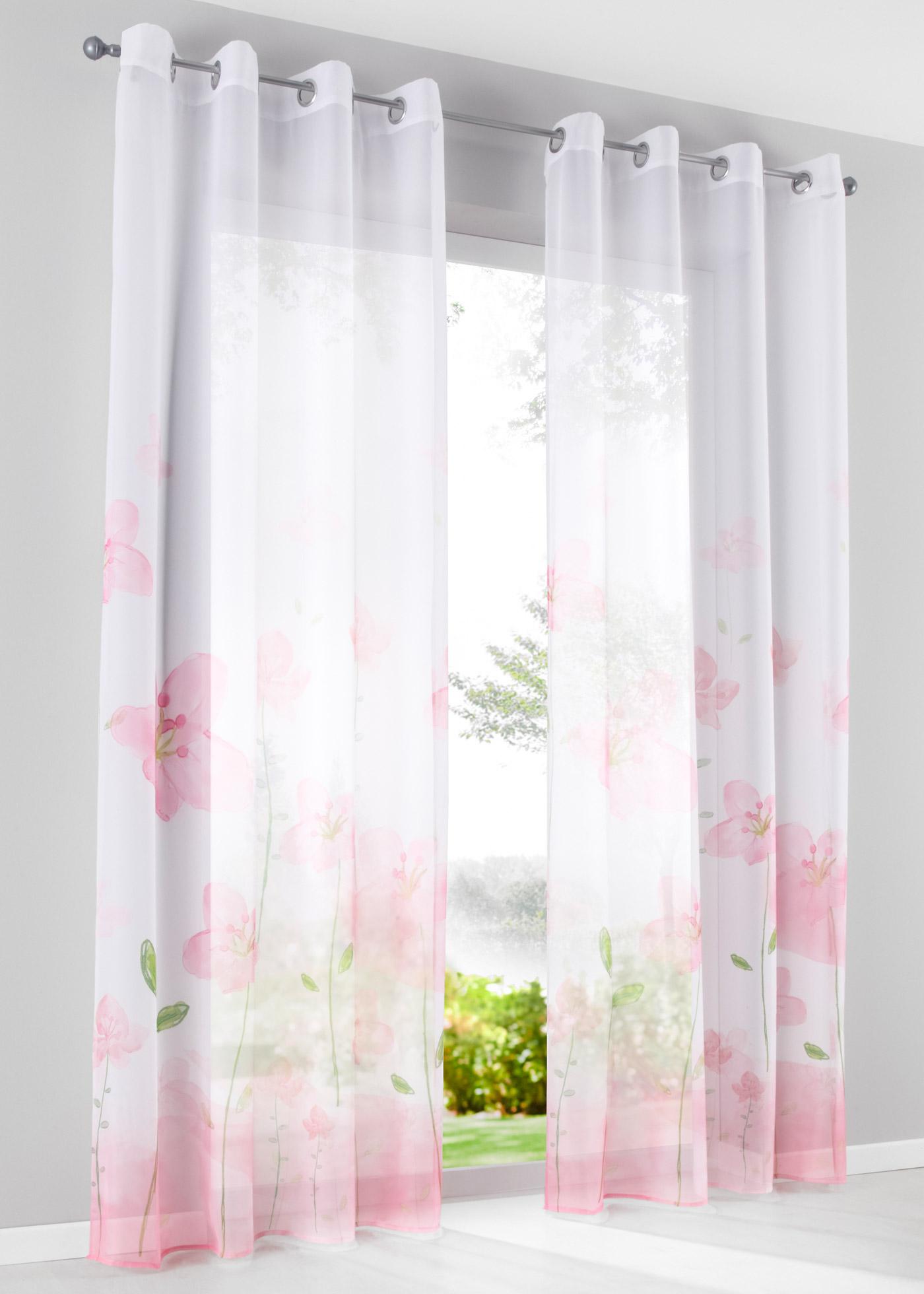 Záclona Betula (1 ks v balení) - Růžová