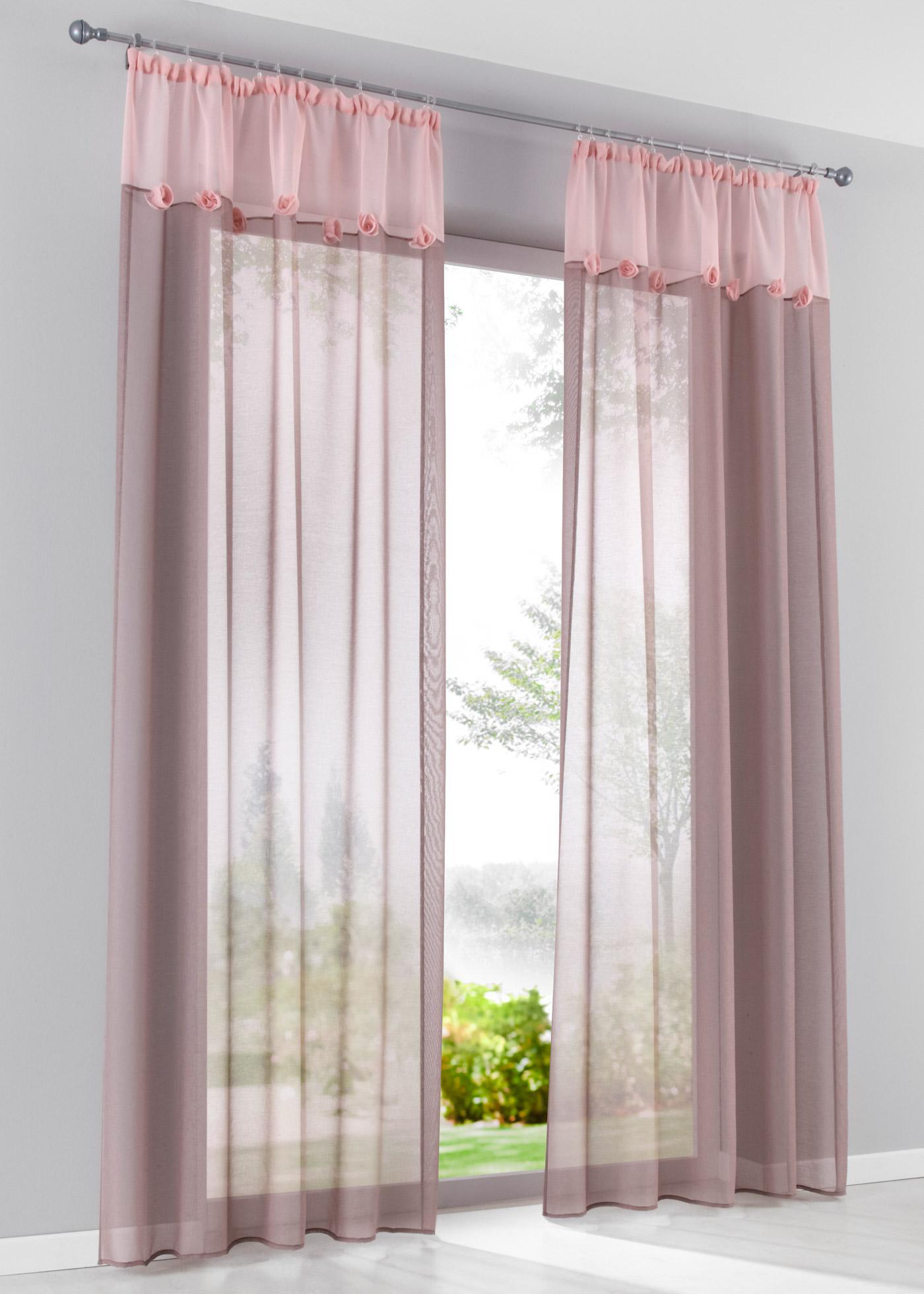 Záclona Roselle (1 ks v balení) - Růžová